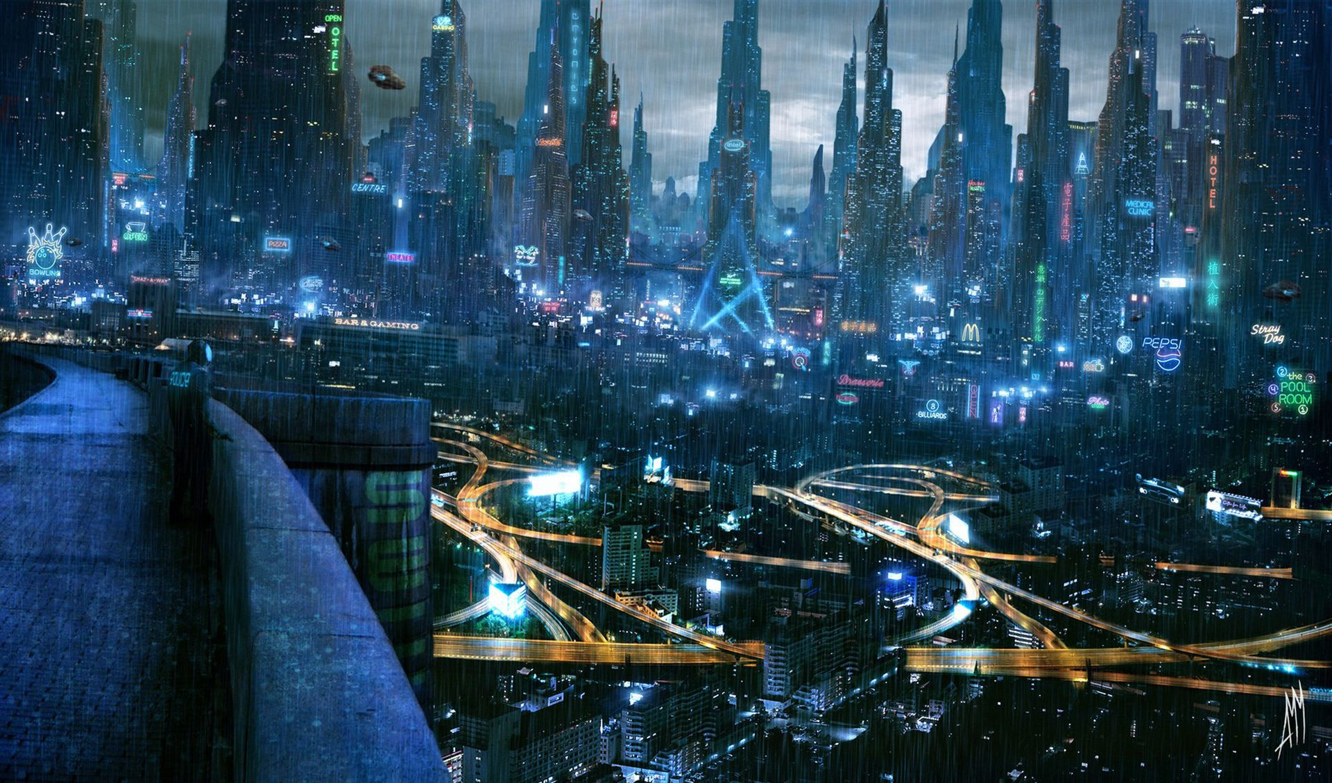 1920x1129 - Sci Fi City Wallpapers 16
