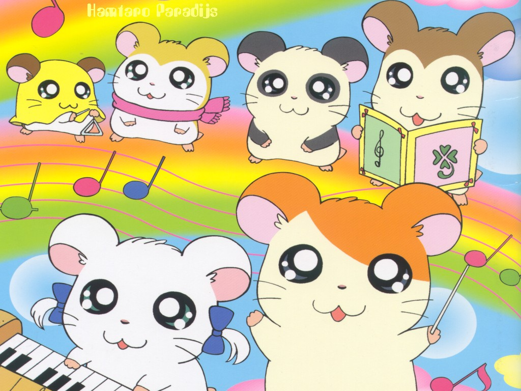 1024x768 - Hamtaro Background 21