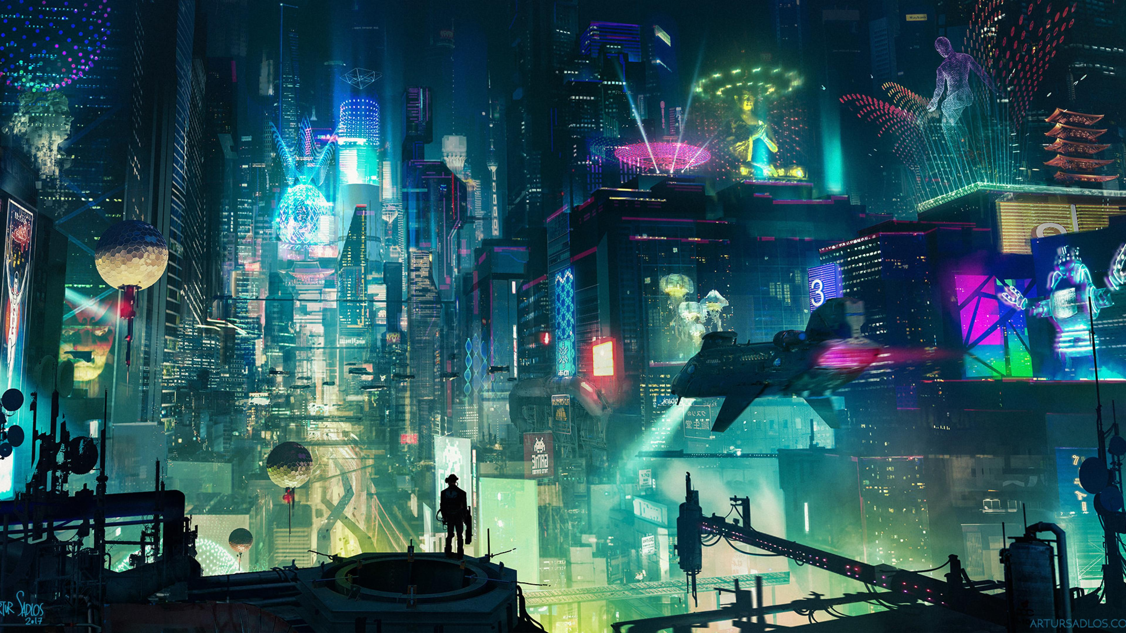 3840x2160 - Sci Fi City Wallpapers 12
