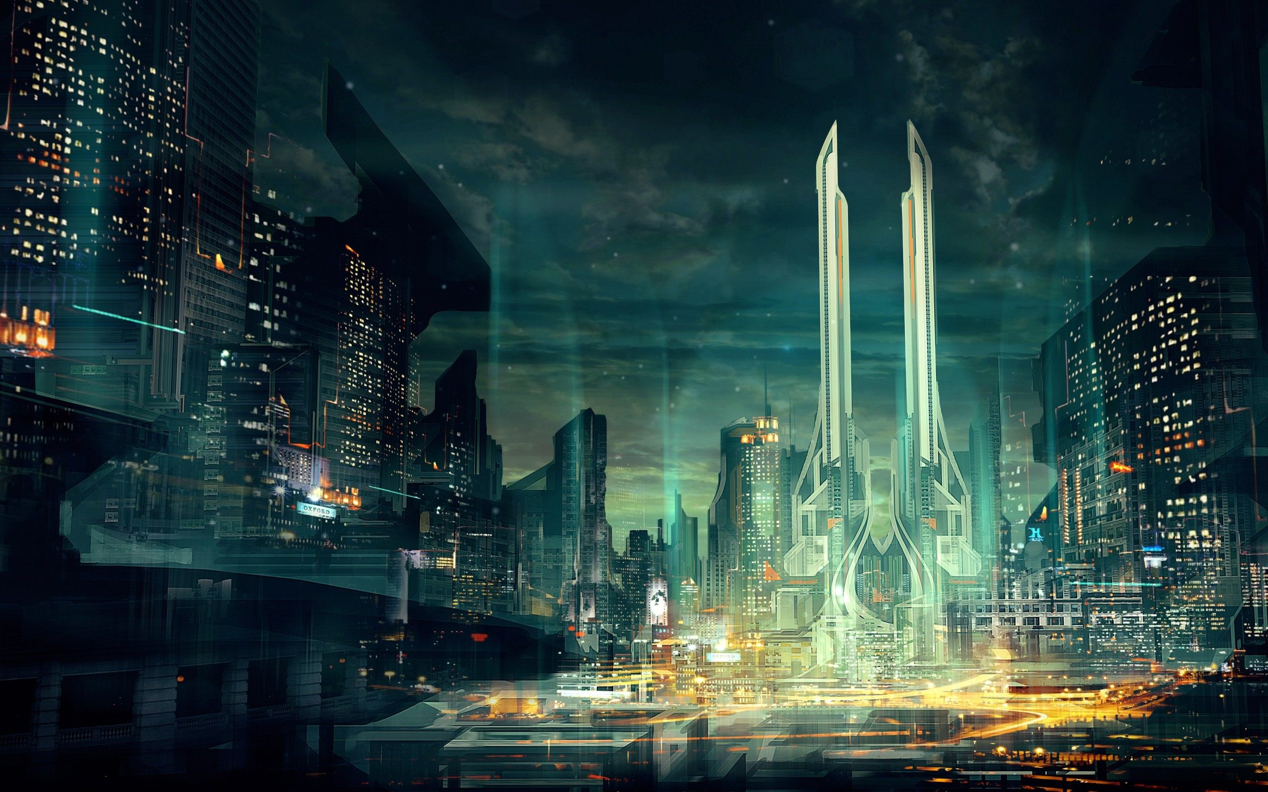 2560x1600 - Sci Fi Building Wallpapers 14