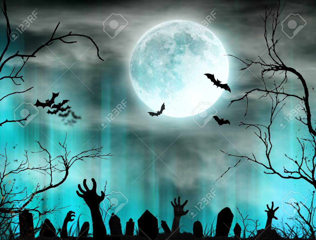 1300x991 - Scary Halloween Background 7