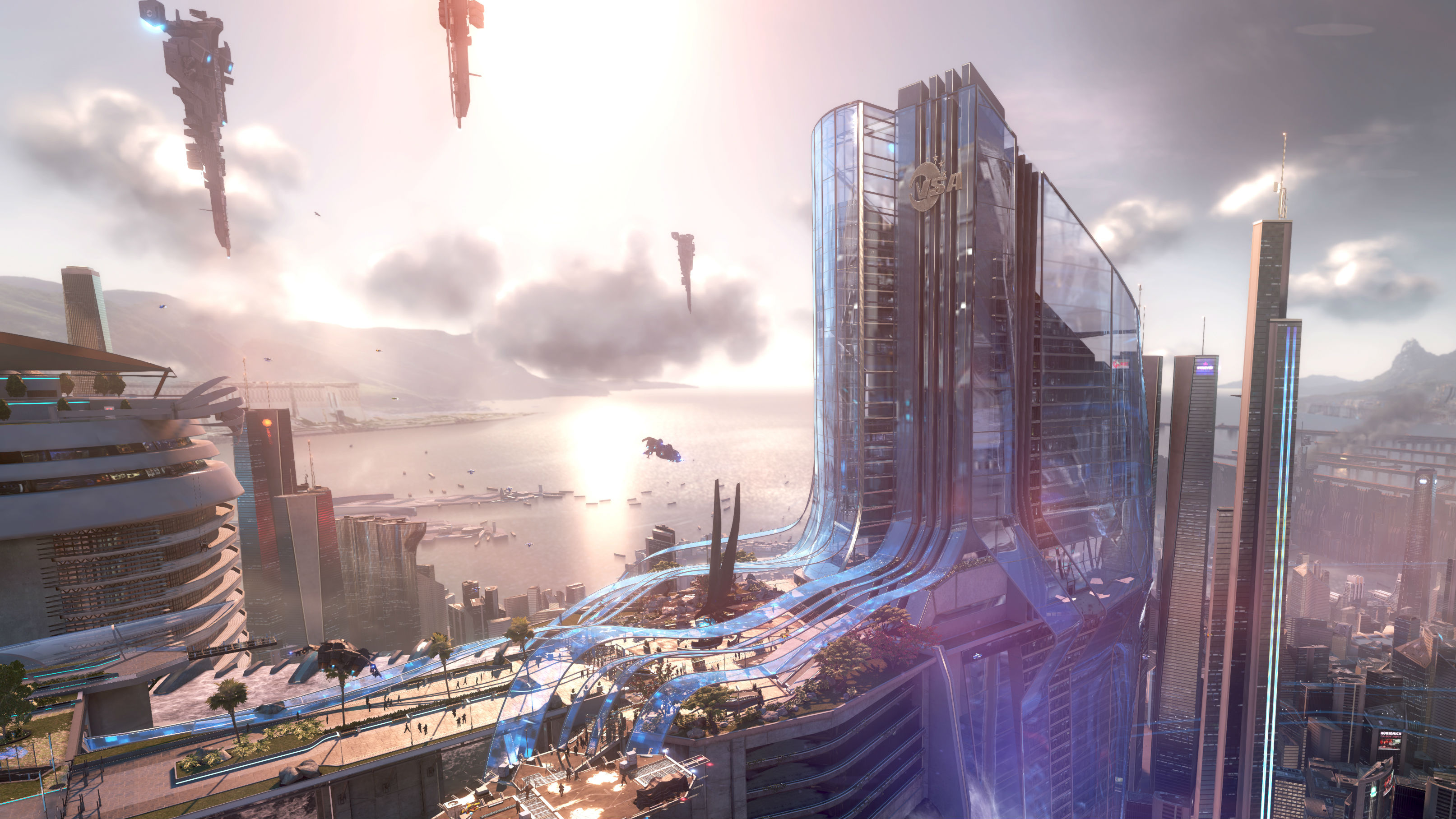 3226x1815 - Sci Fi City Wallpapers 1