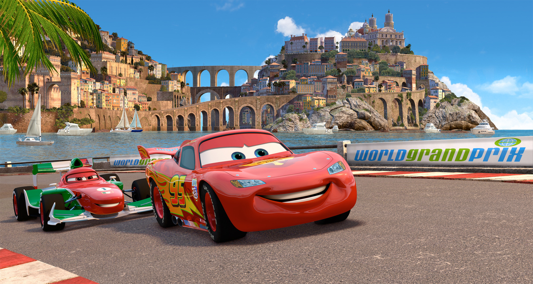 2023x1080 - Wallpaper Cars Cartoon 33