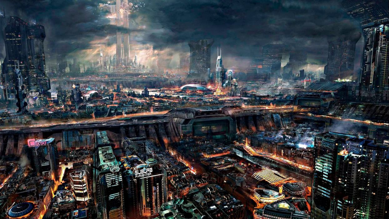 1245x700 - Sci Fi City Wallpapers 15