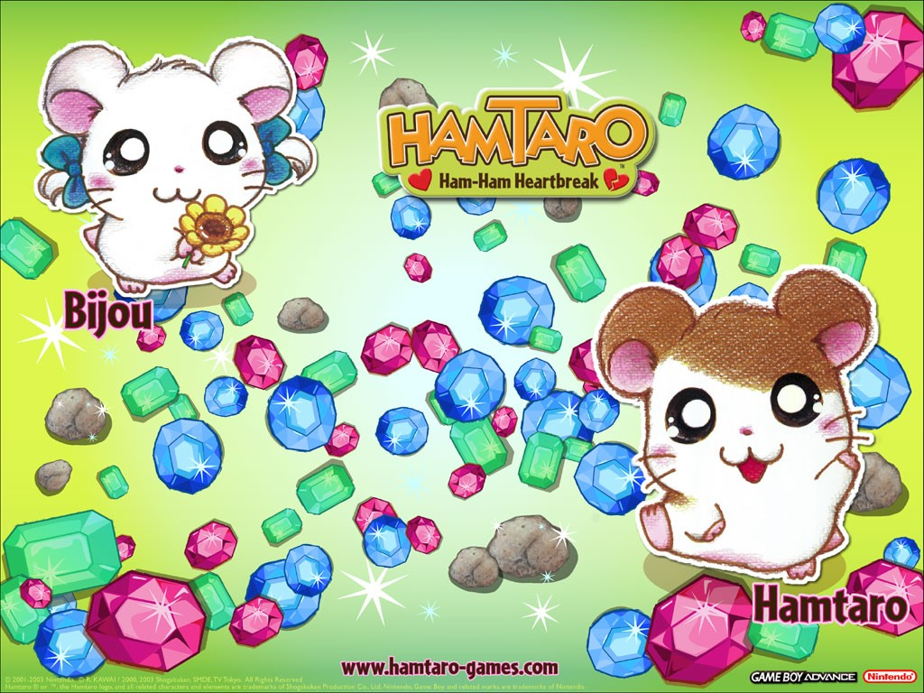 1024x768 - Hamtaro Background 32