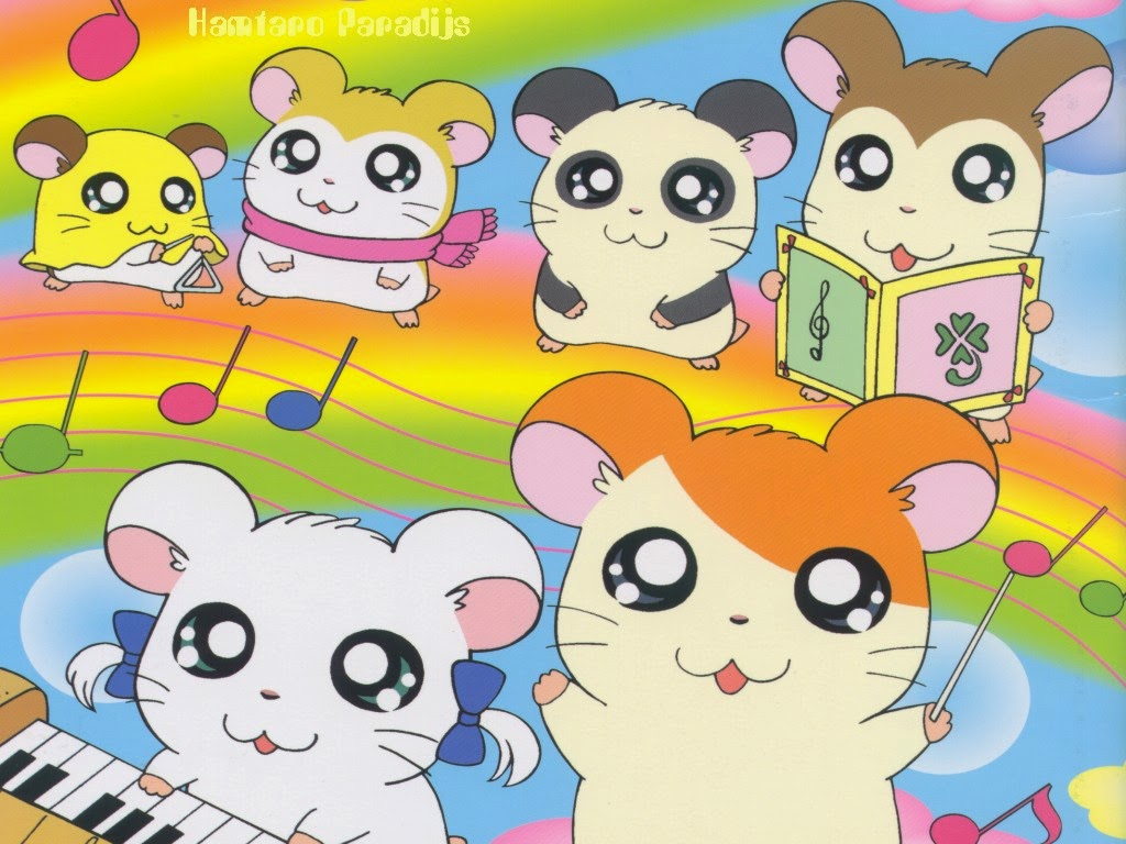 1024x768 - Hamtaro Background 23
