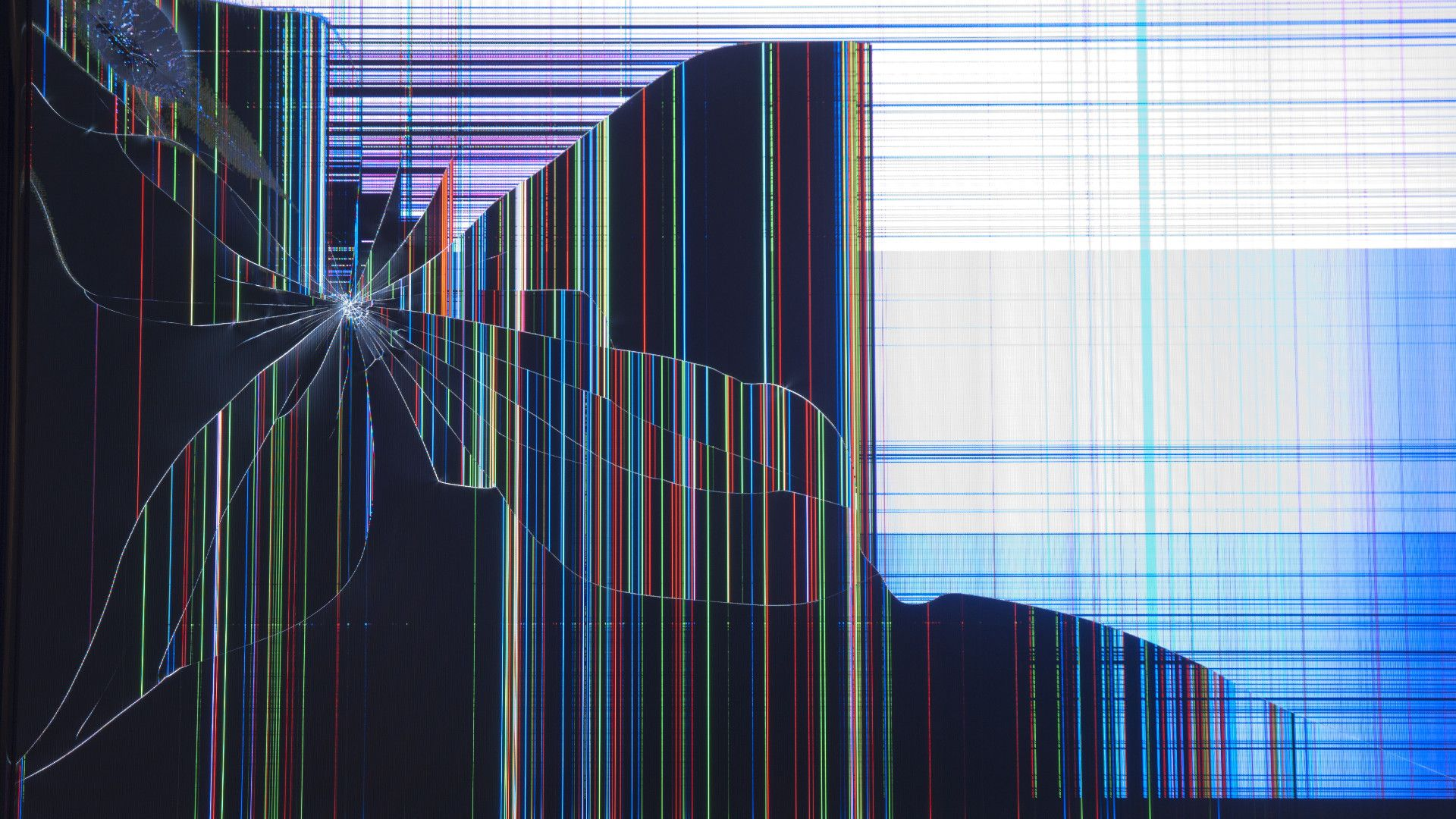 Broken tv screen 35 images dodowallpaper - Ultra high def tv prank ...
