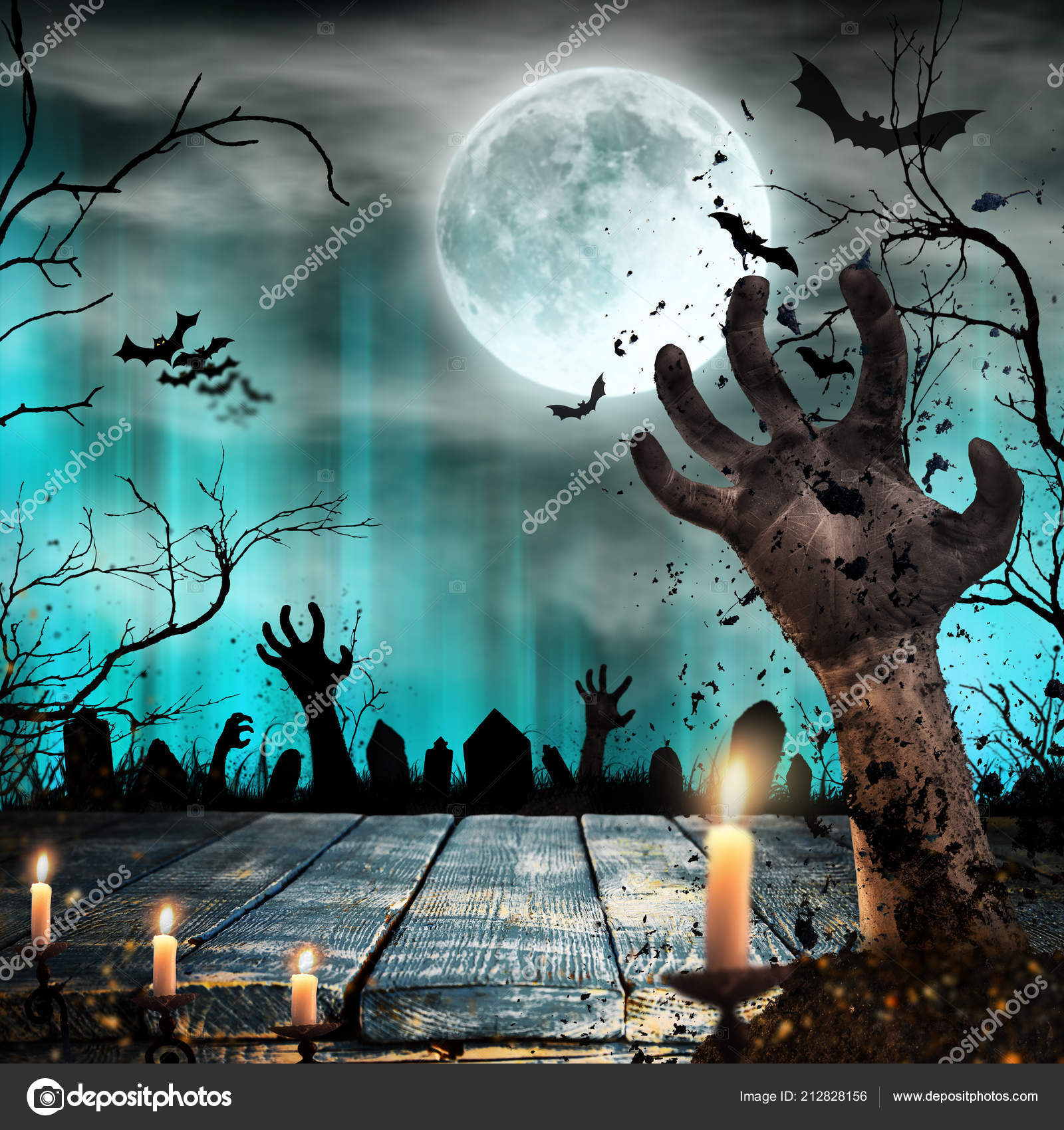 1600x1700 - Scary Halloween Background 19
