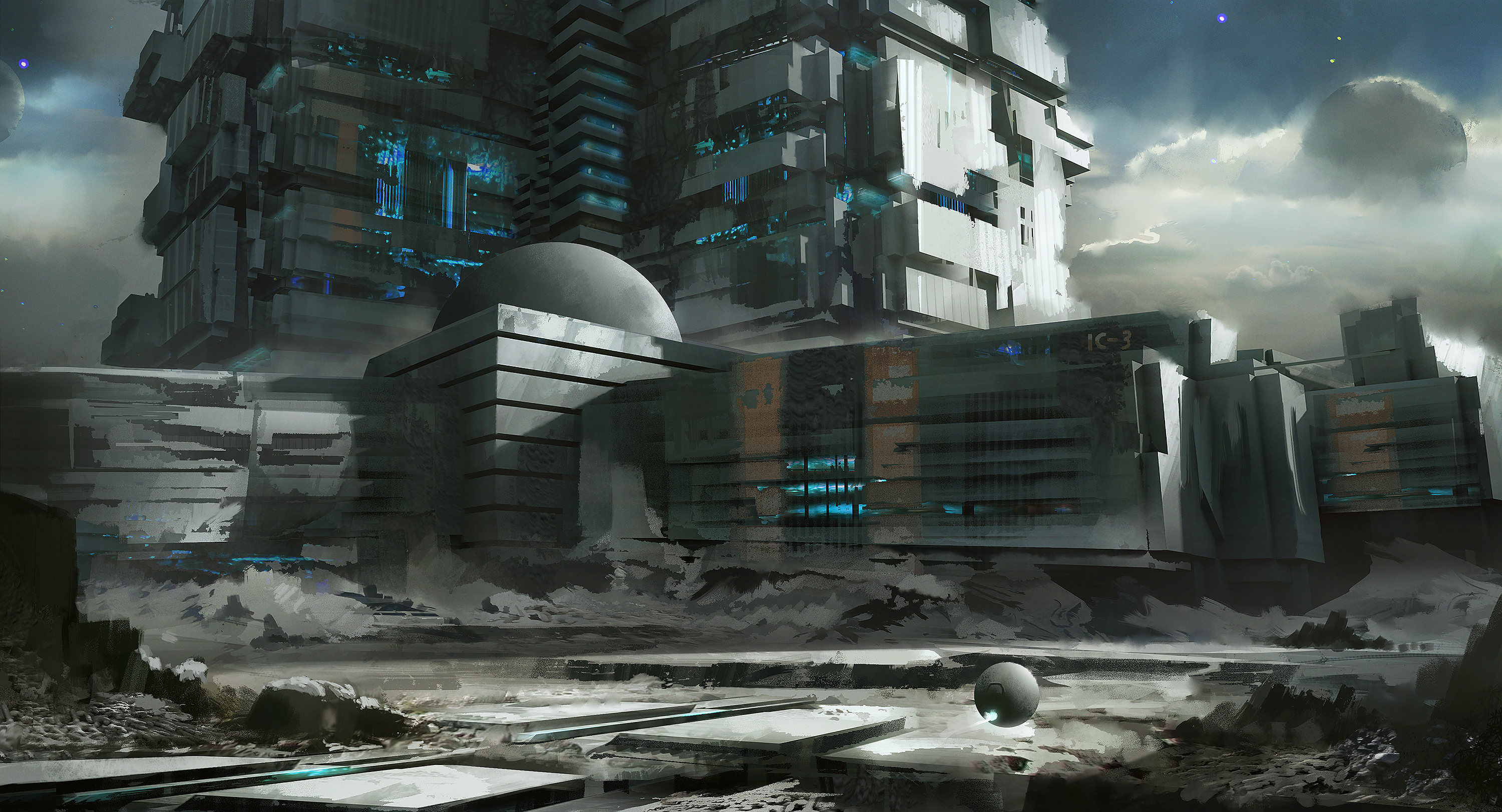 3000x1623 - Sci Fi Building Wallpapers 7