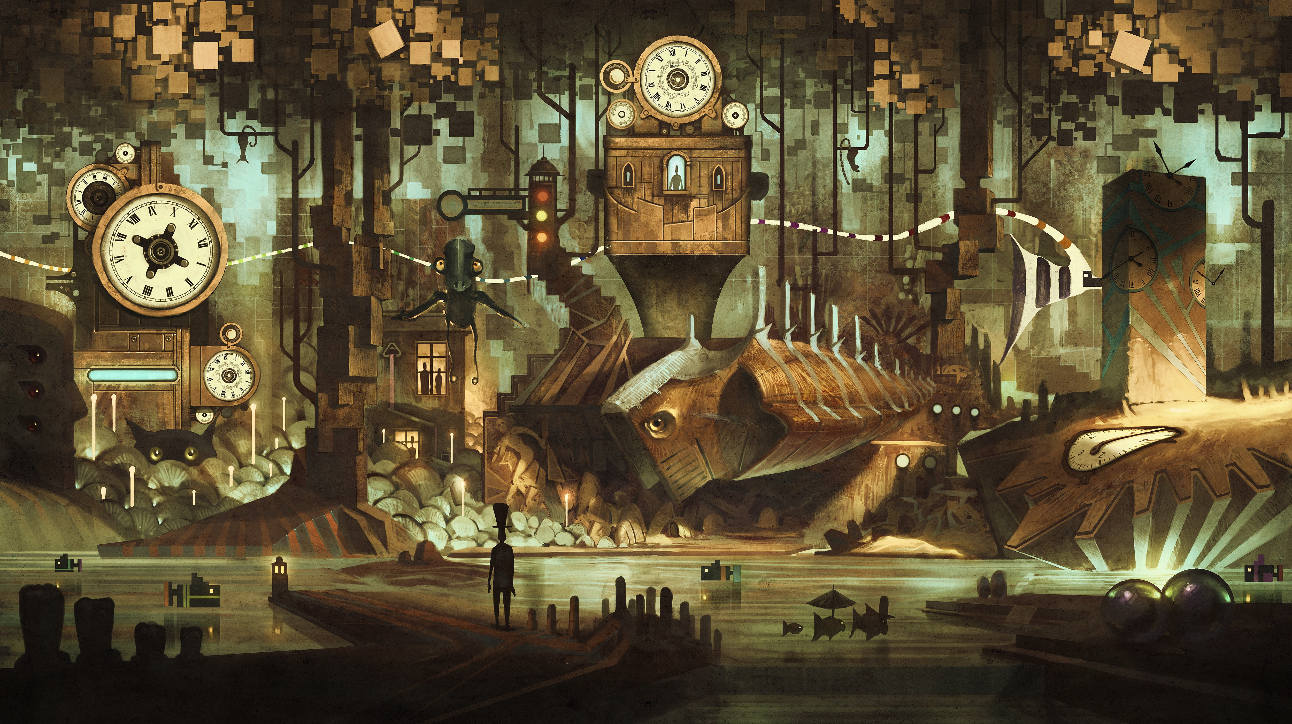 5000x2801 - Steampunk Wallpapers 13