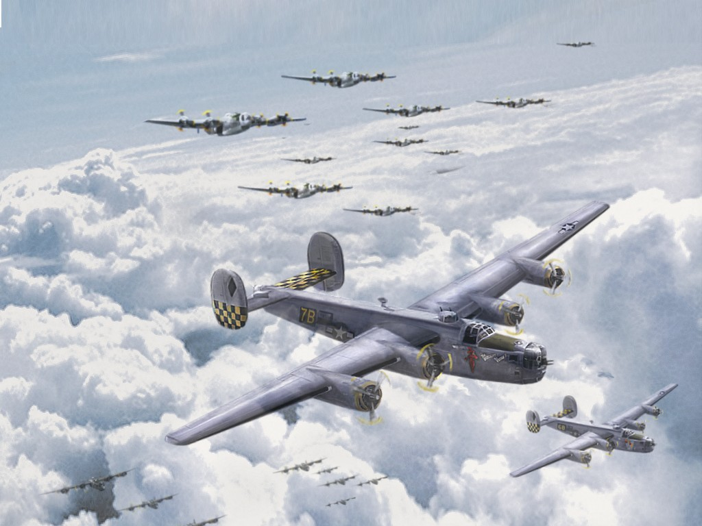 1024x768 - Consolidated B-24 Liberator Wallpapers 4