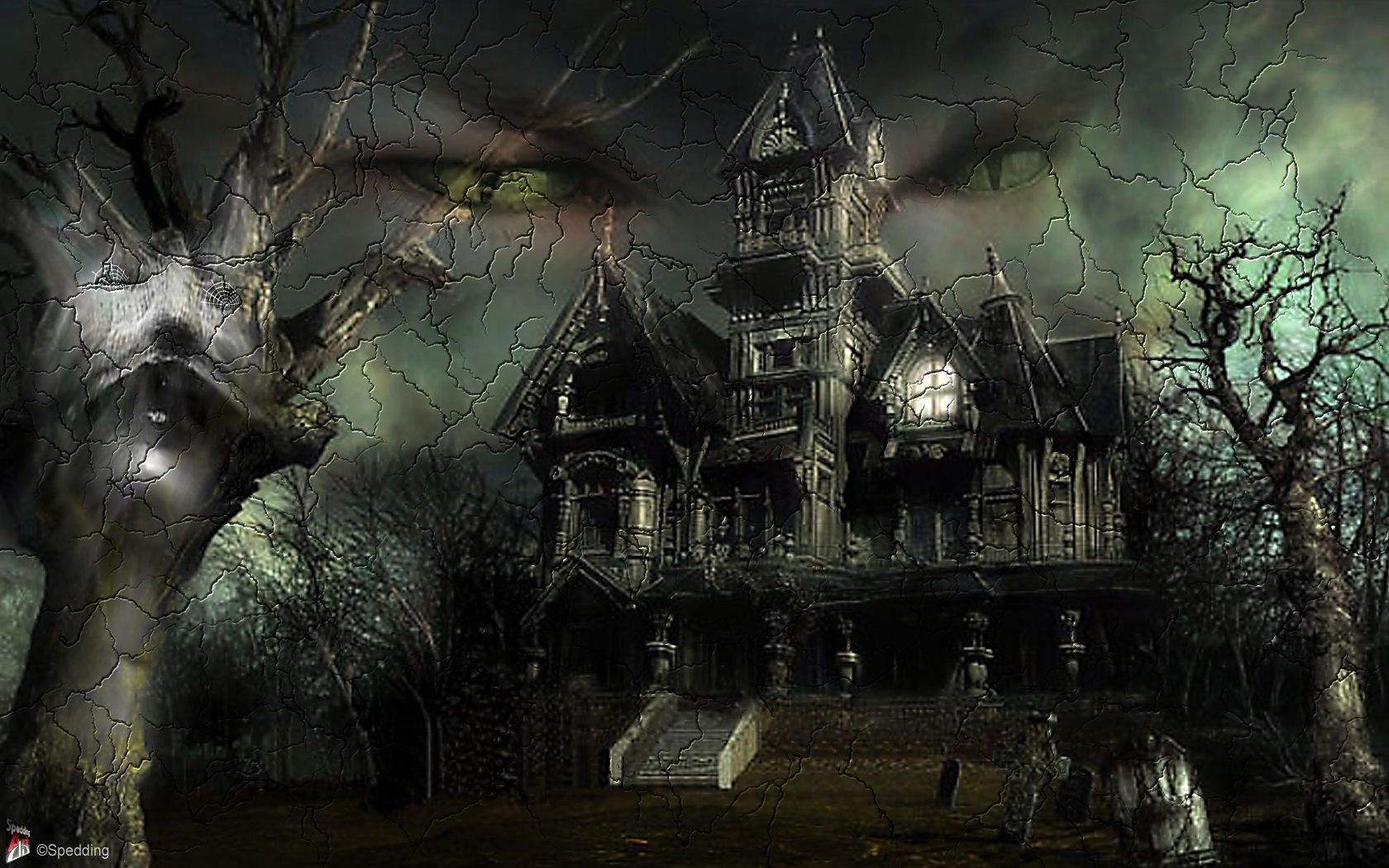 1680x1050 - Scary Halloween Background 29