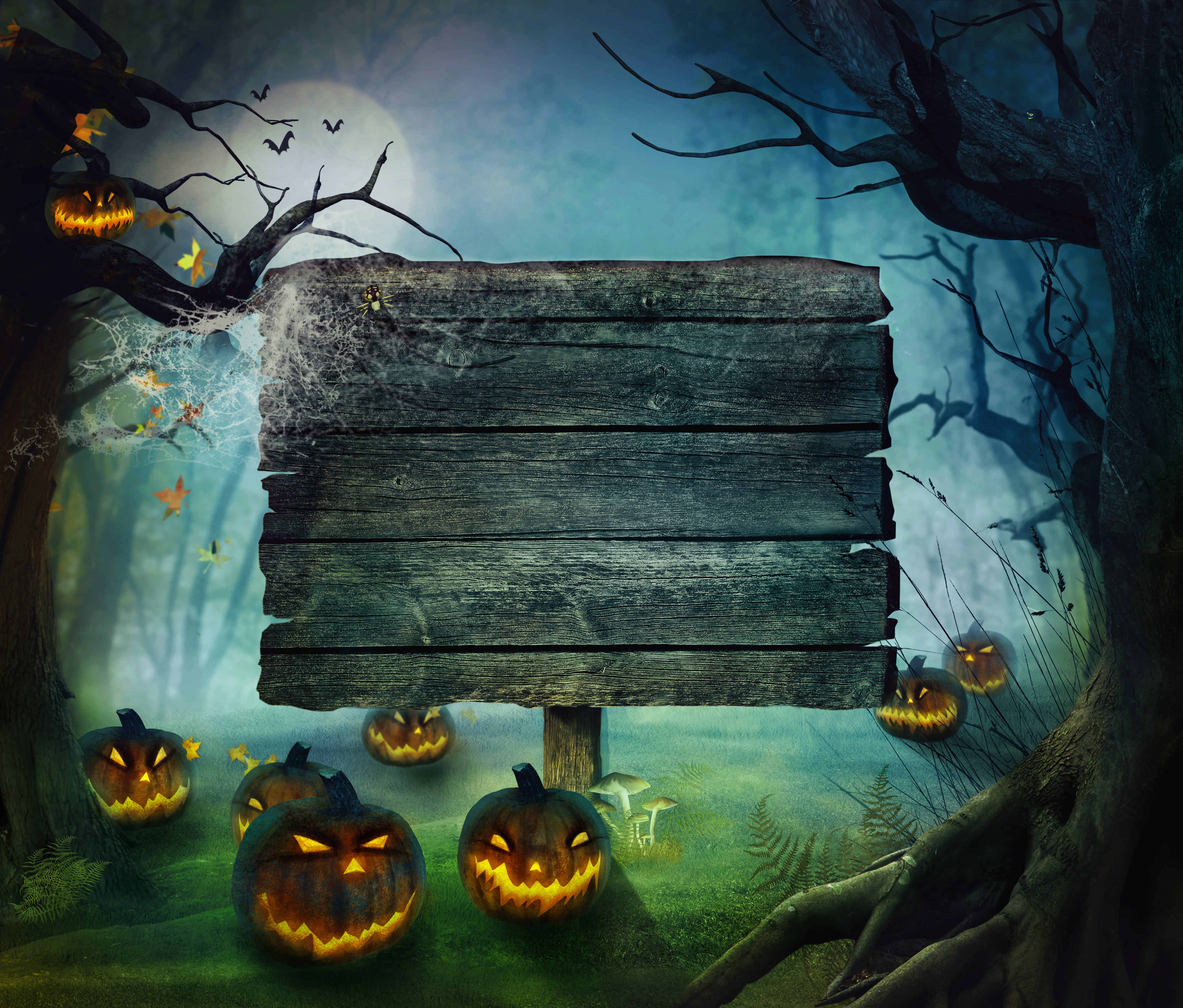 4000x3409 - Scary Halloween Background 21