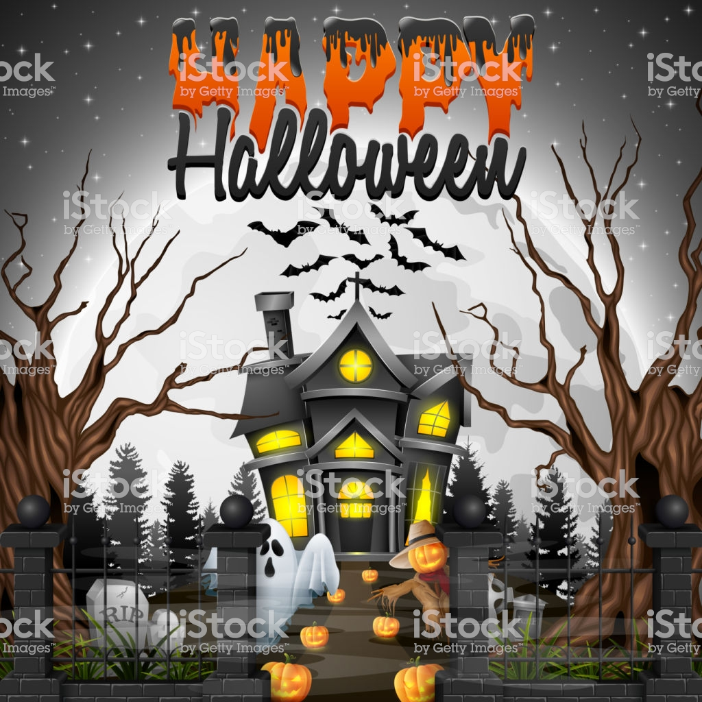 1024x1024 - Scary Halloween Background 26