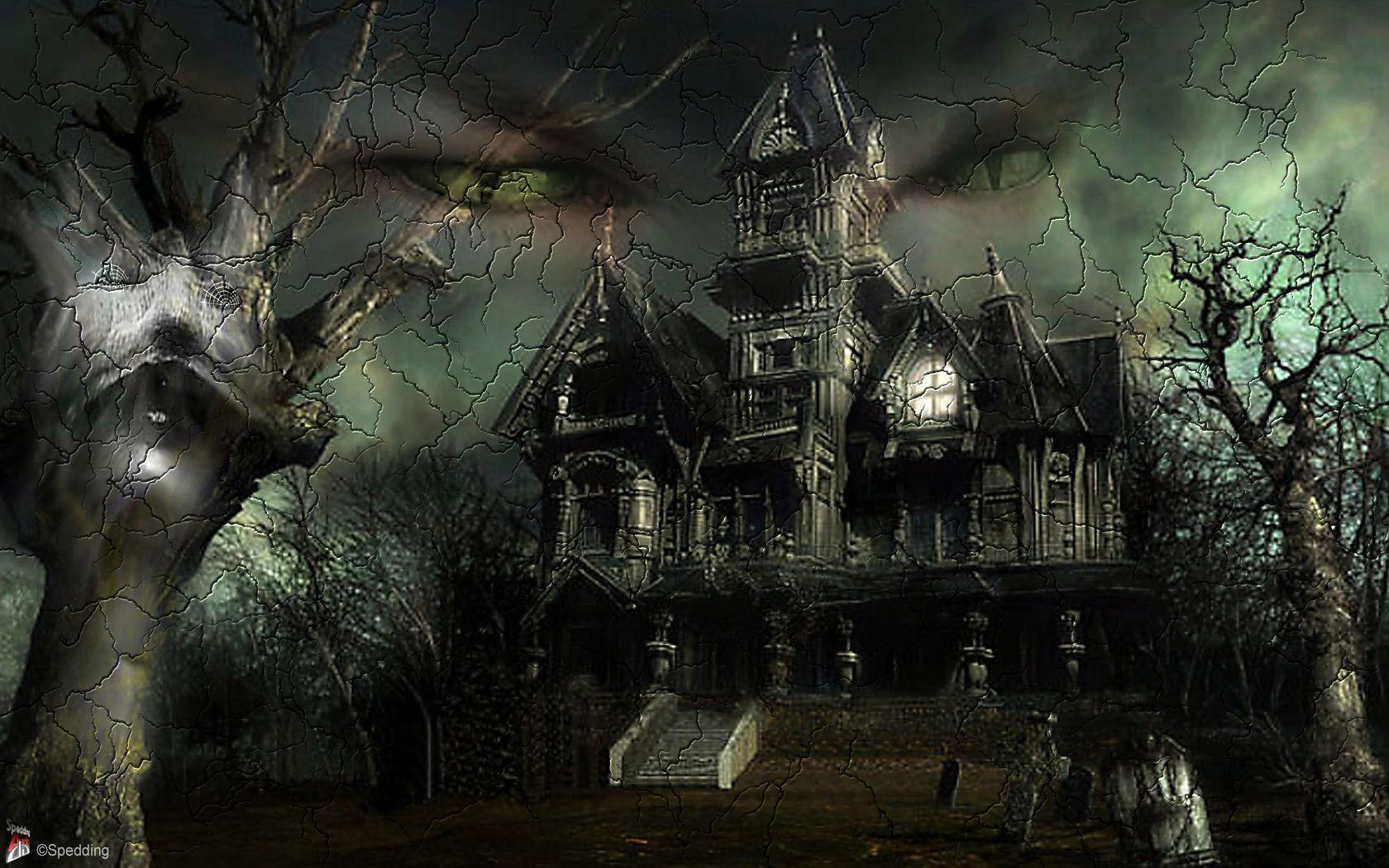 1680x1050 - Scary Halloween Background 36