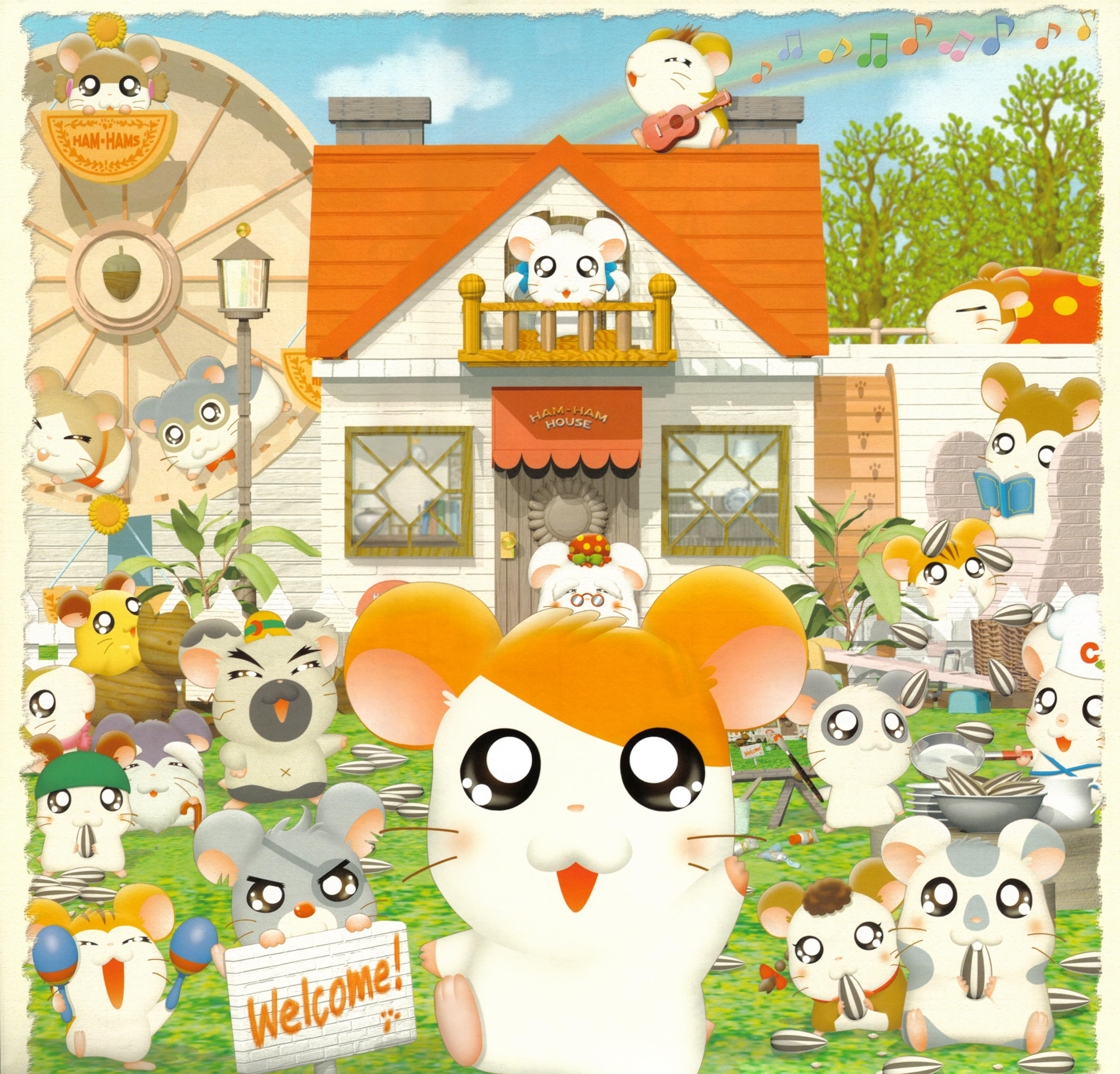 3095x2969 - Hamtaro Background 24