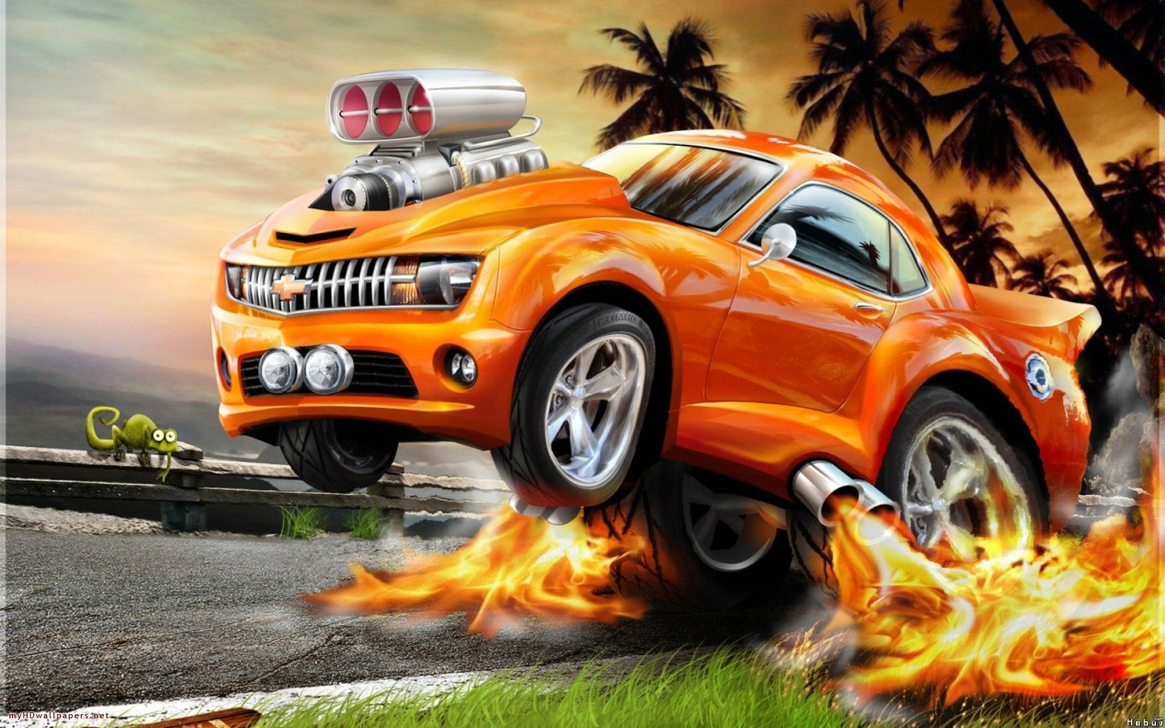 1680x1050 - Wallpaper Cars Cartoon 18