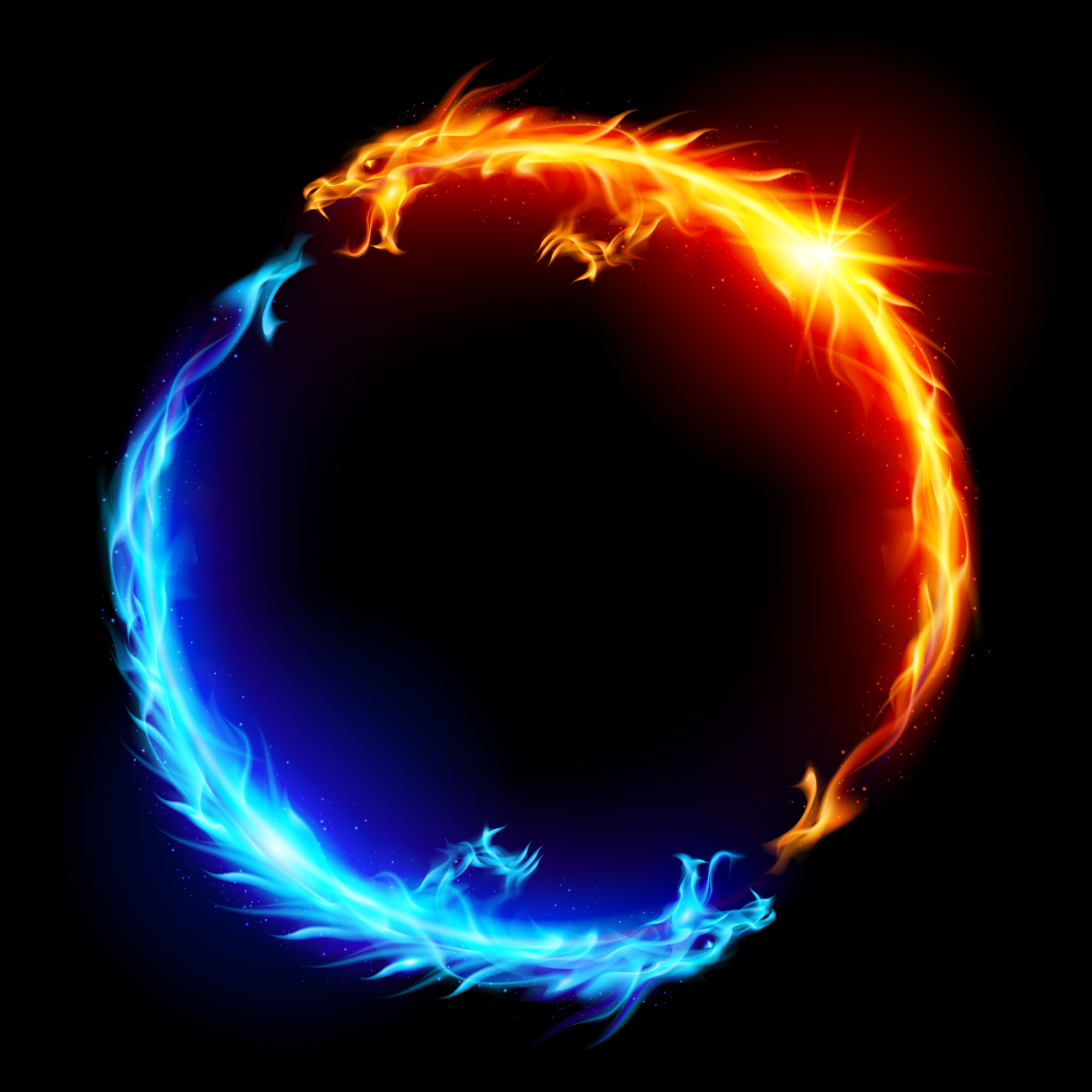 5000x5000 - Red and Blue Fire 13
