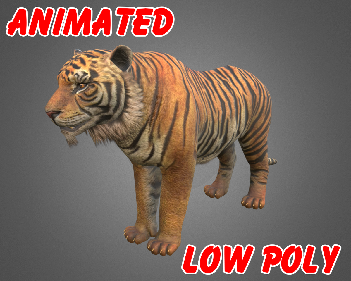 1200x961 - Animated Tiger 23