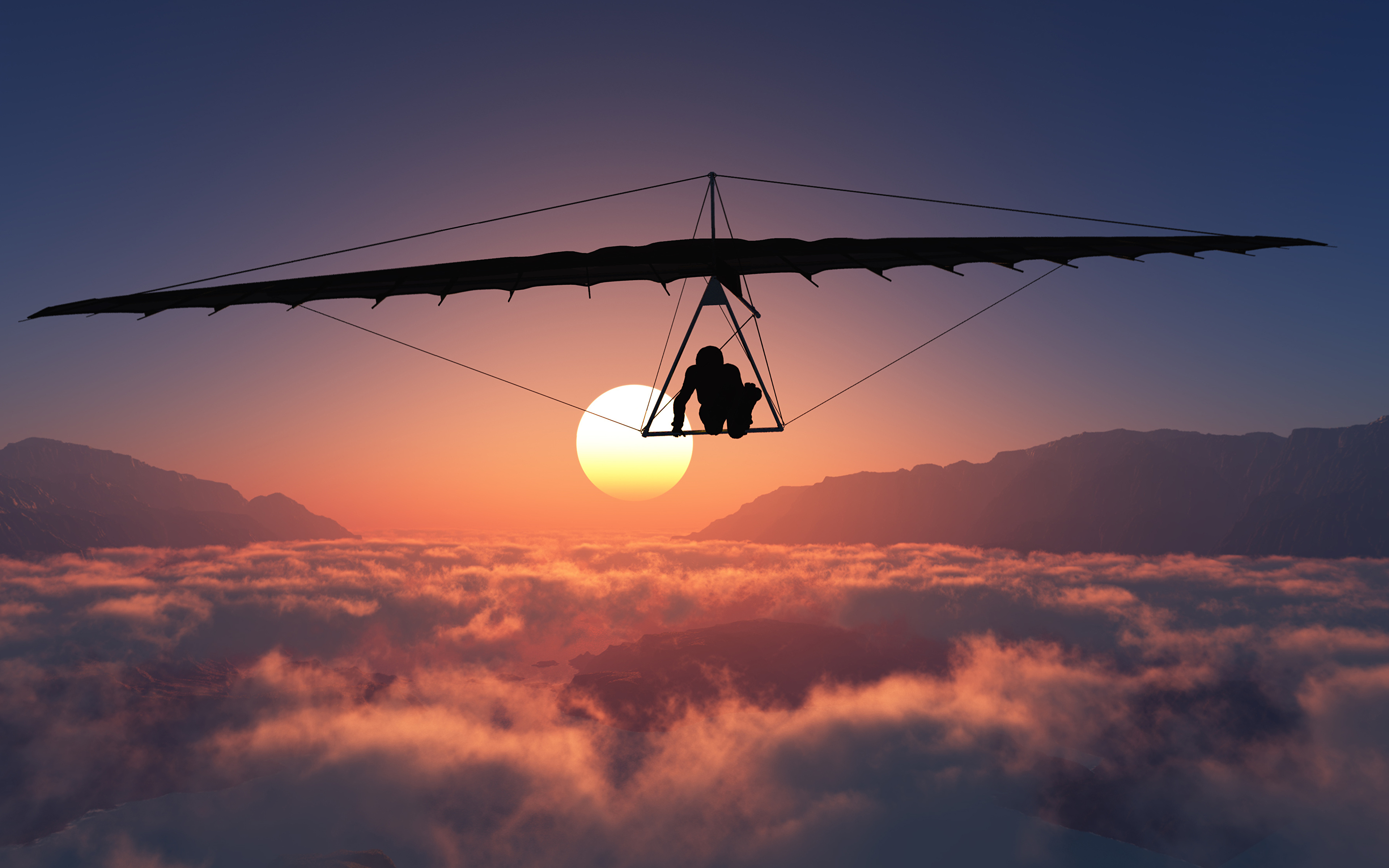3840x2400 - Hang Gliding Wallpapers 2