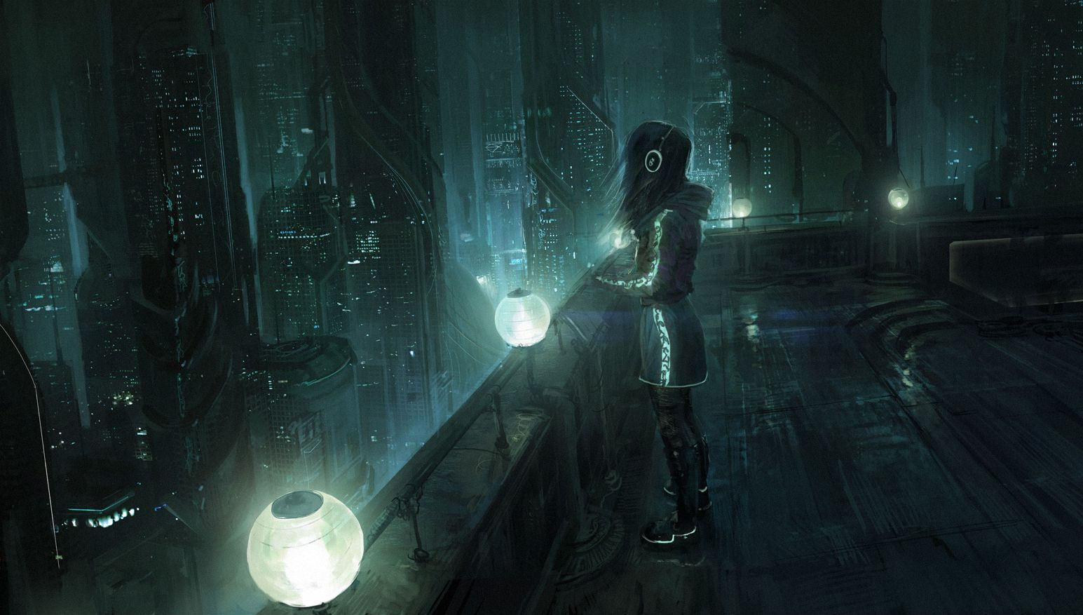1545x877 - Sci Fi City Wallpapers 2