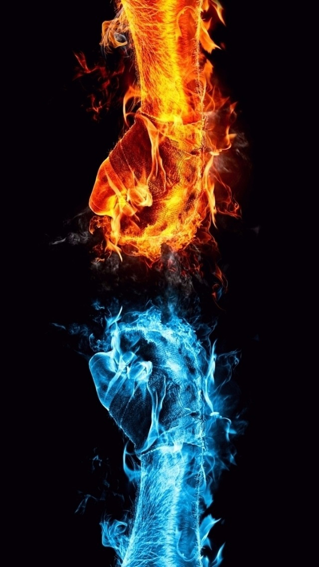 640x1136 - Red and Blue Fire 38
