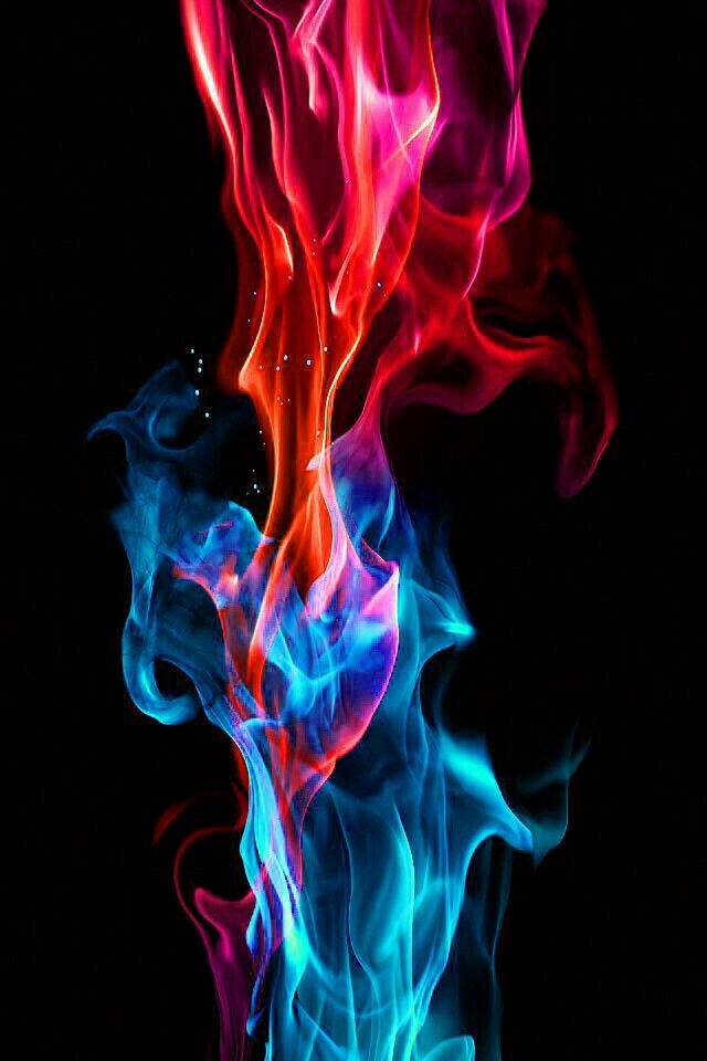 640x960 - Red and Blue Fire 2