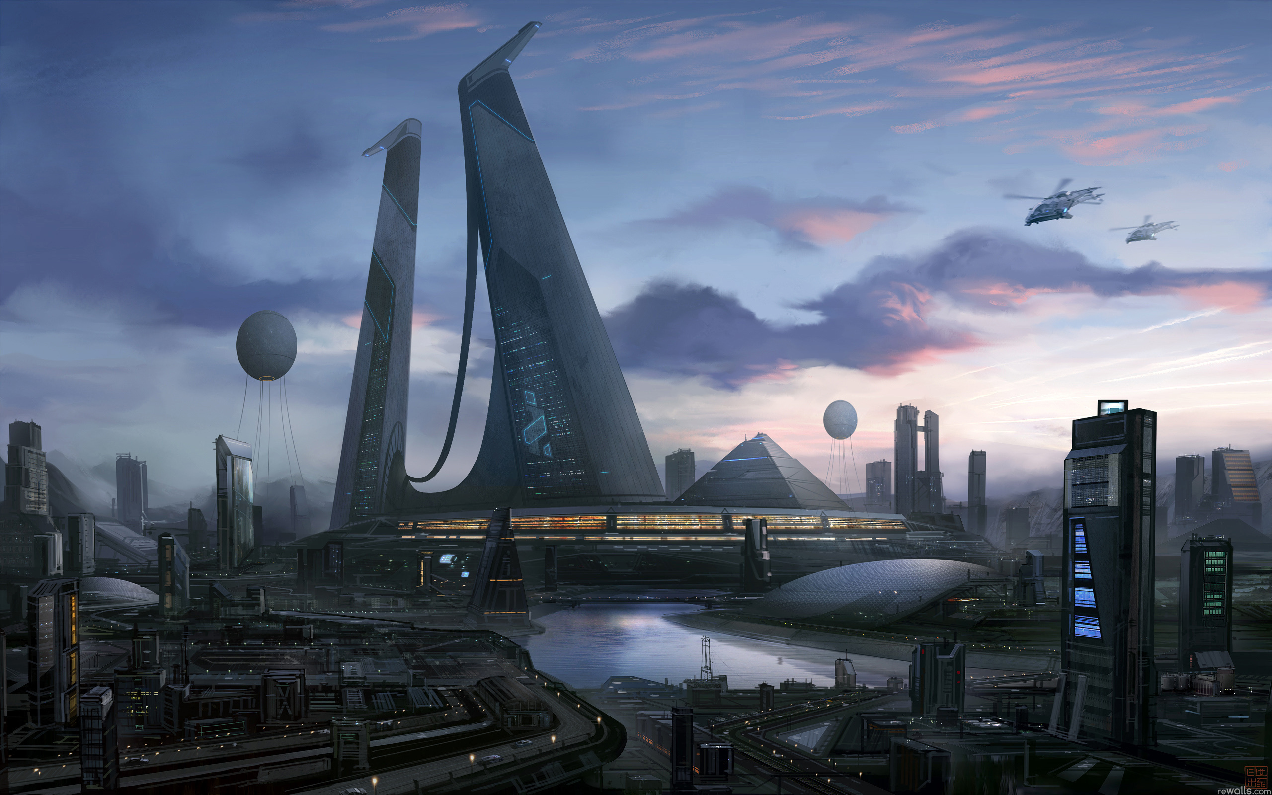 2560x1600 - Sci Fi Building Wallpapers 6