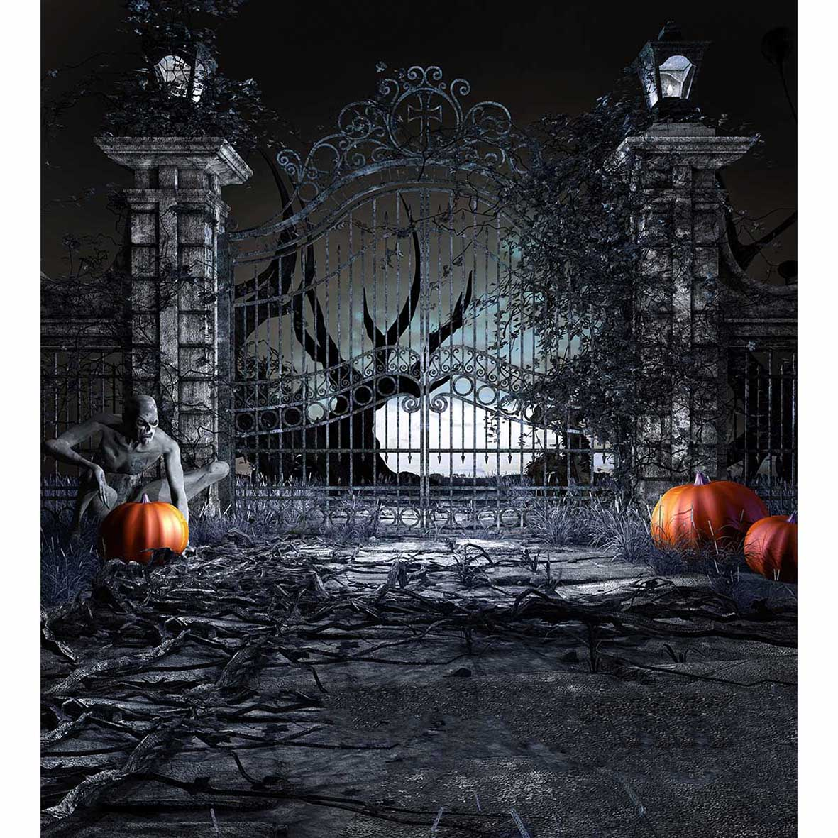 1181x1181 - Scary Halloween Background 11