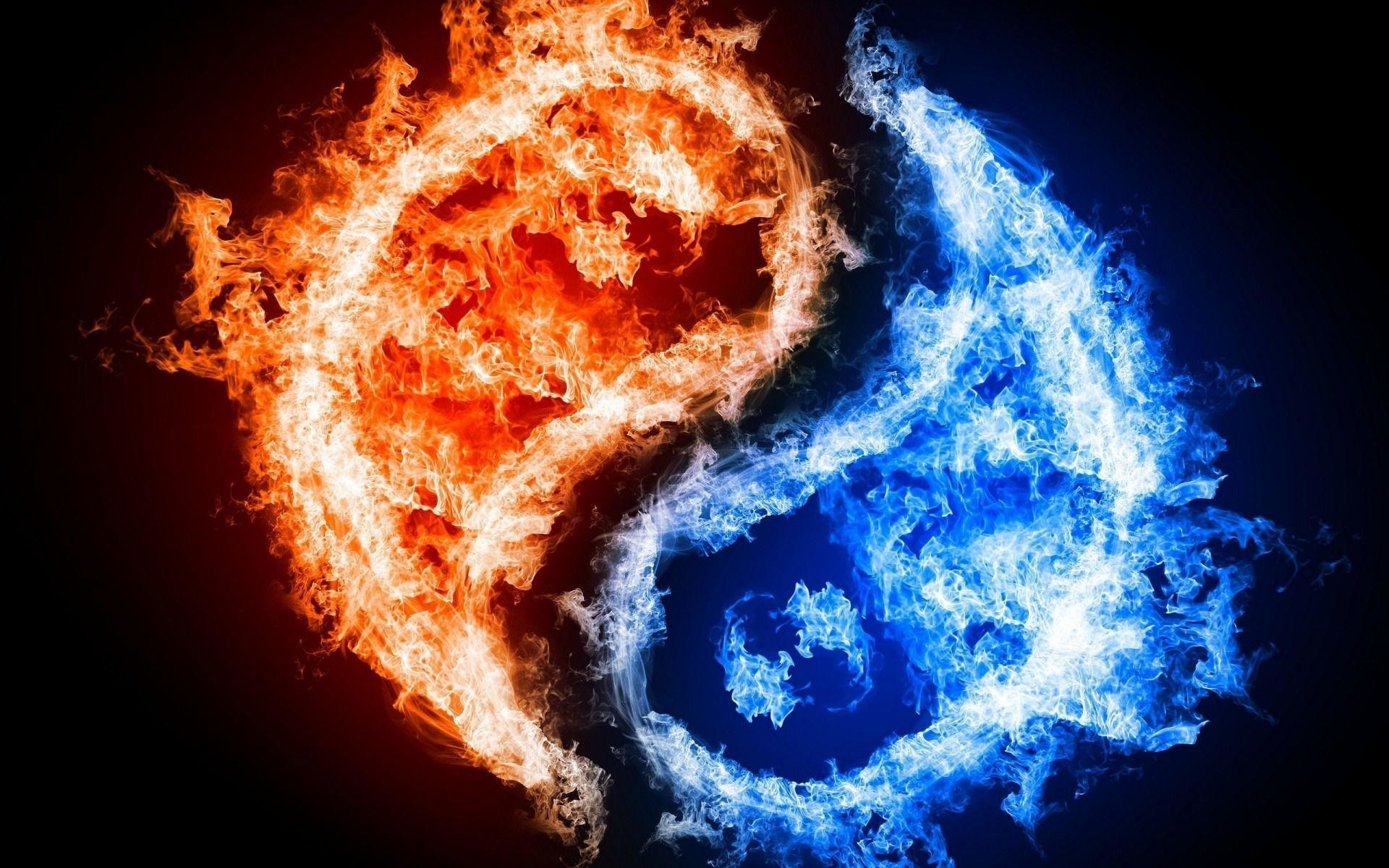 1920x1200 - Red and Blue Fire 6