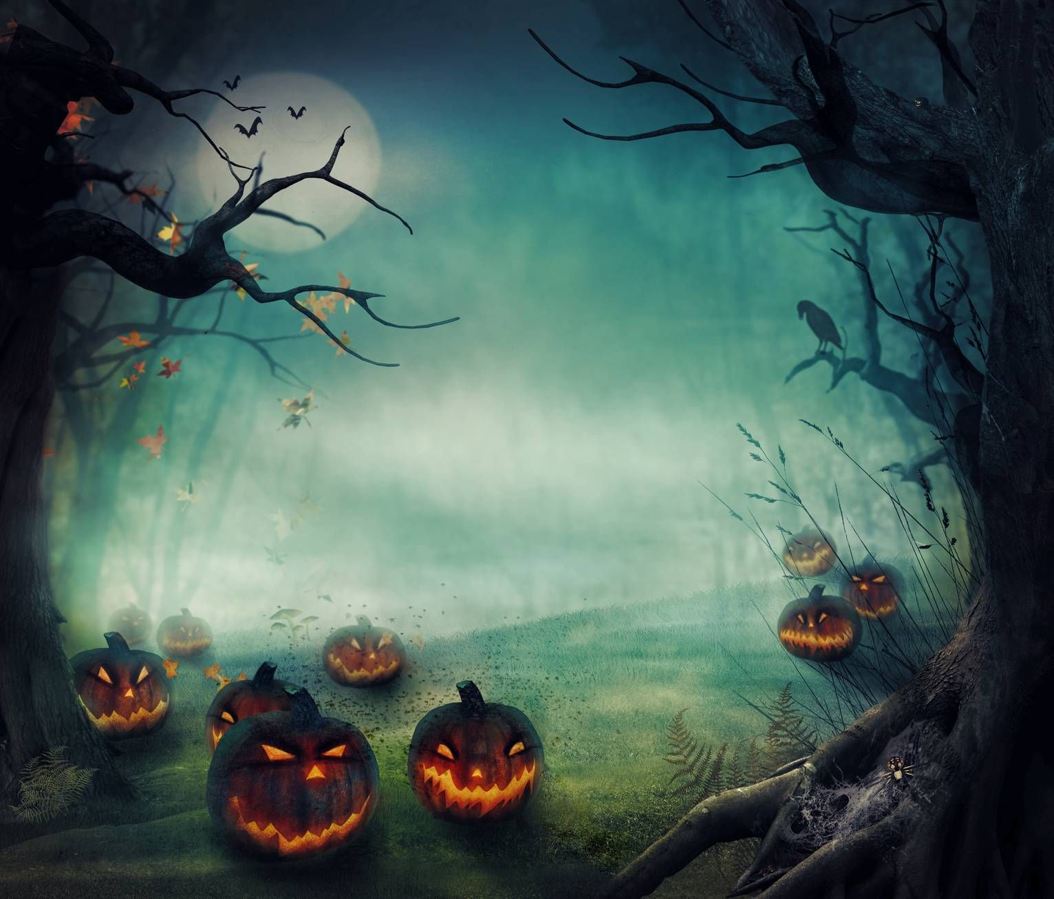 1532x1306 - Scary Halloween Background 13