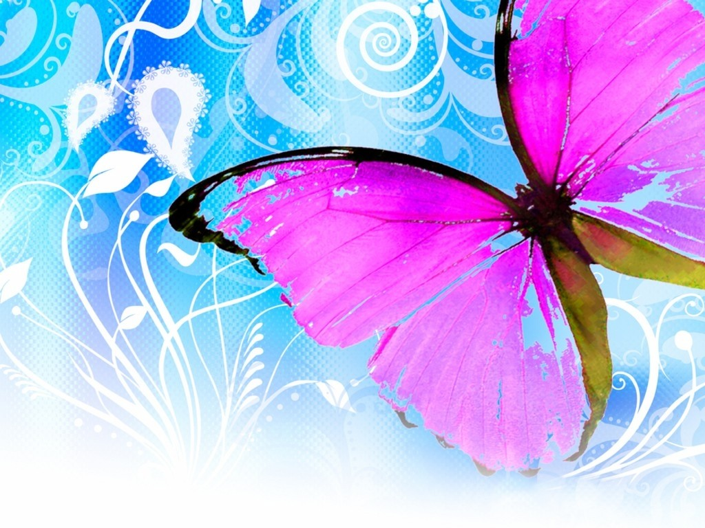 1024x768 - Pretty Butterfly Backgrounds 48