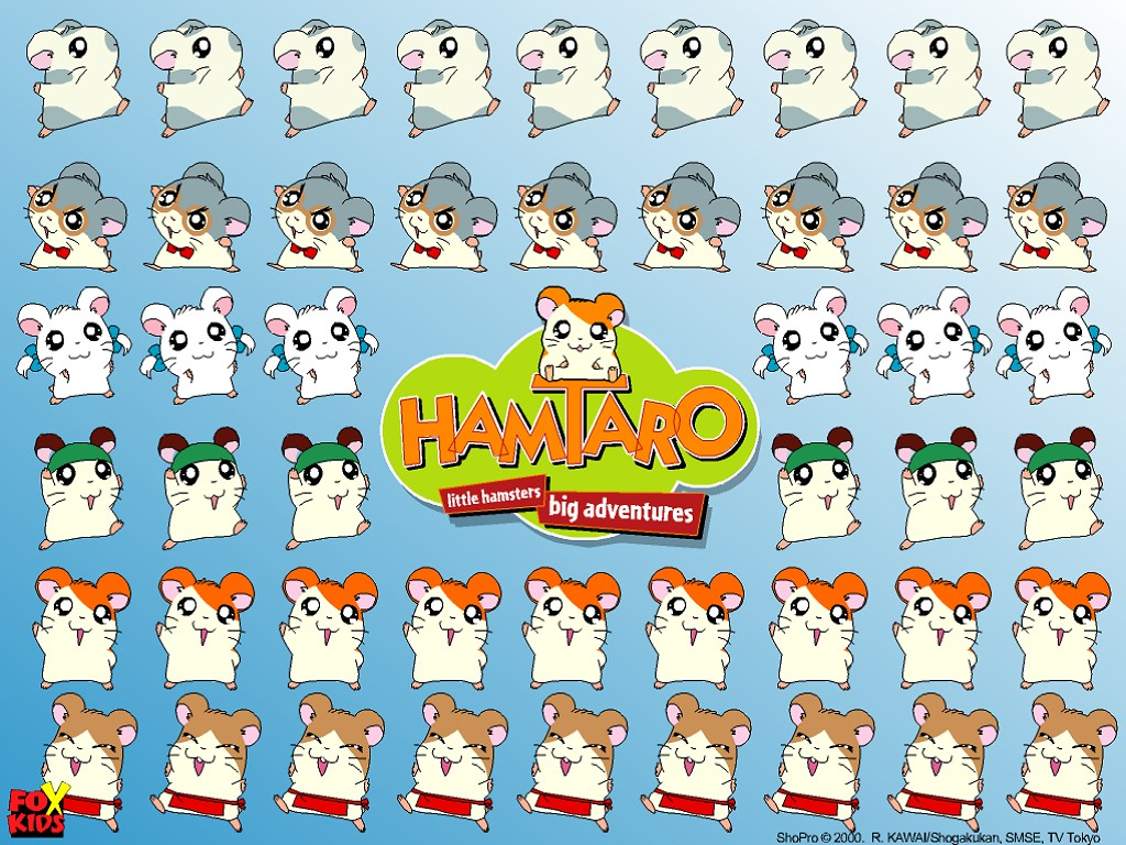 1024x768 - Hamtaro Background 30