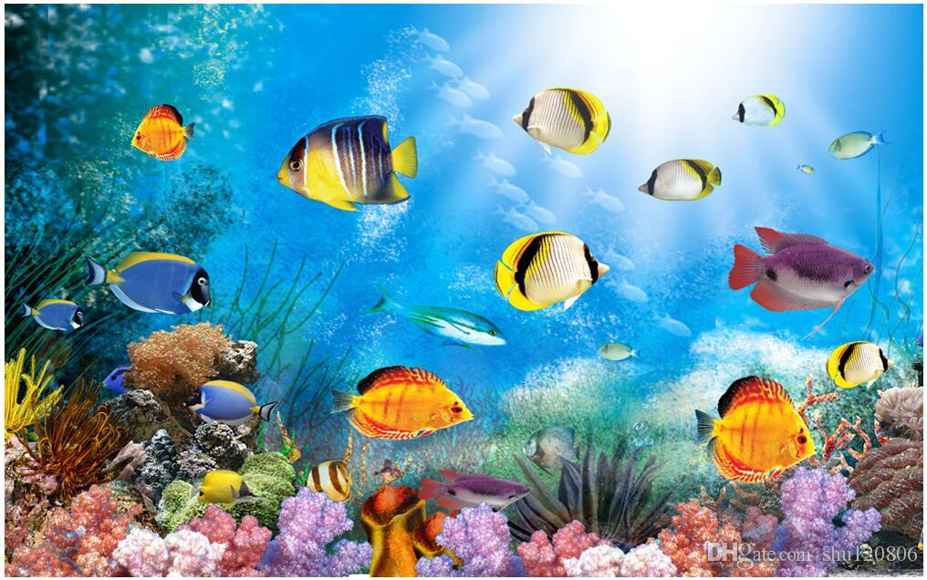 1016x636 - Blue Ocean Wallpaper with Fish 25