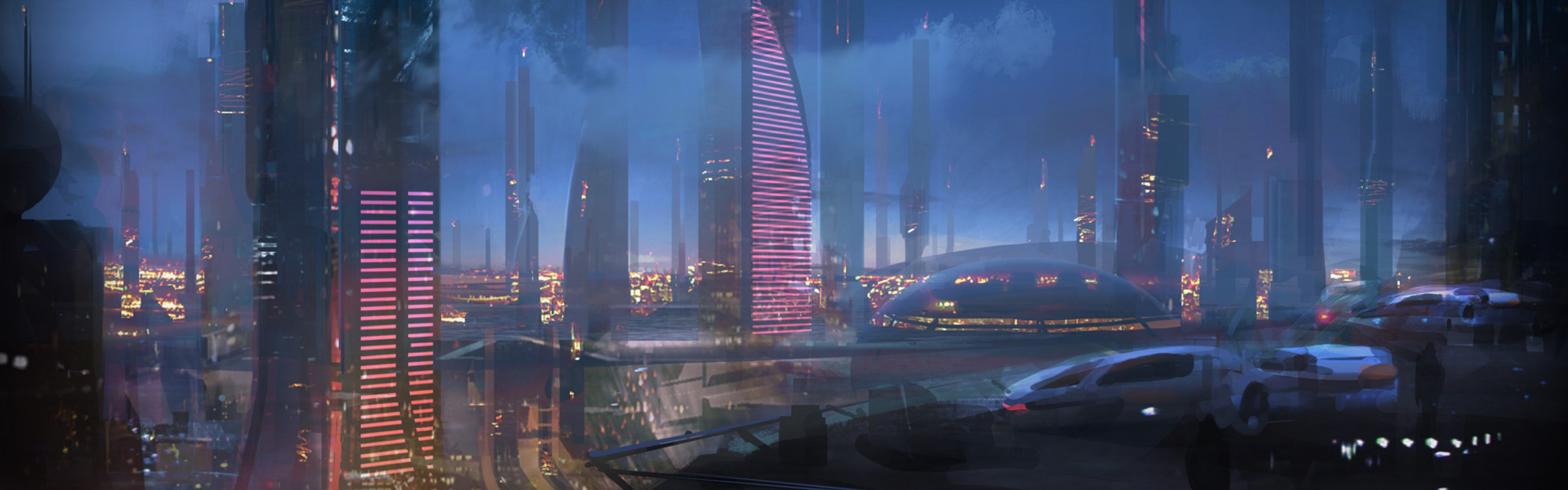 3360x1050 - Sci Fi Building Wallpapers 19