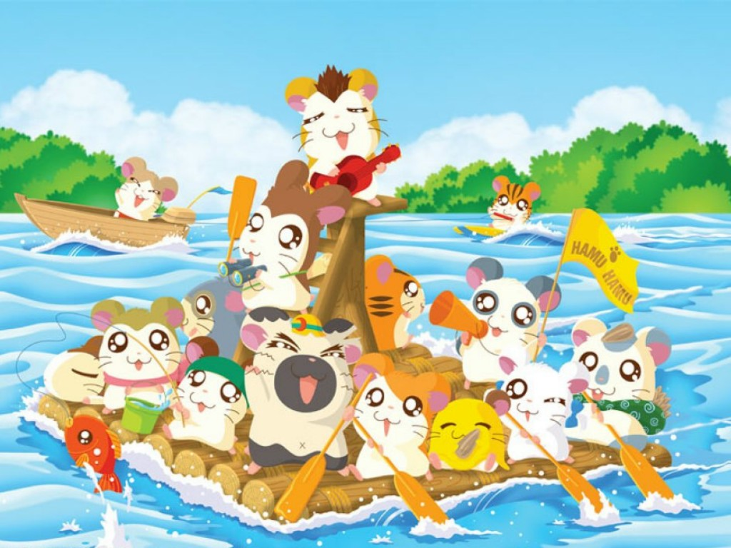 1024x768 - Hamtaro Background 11