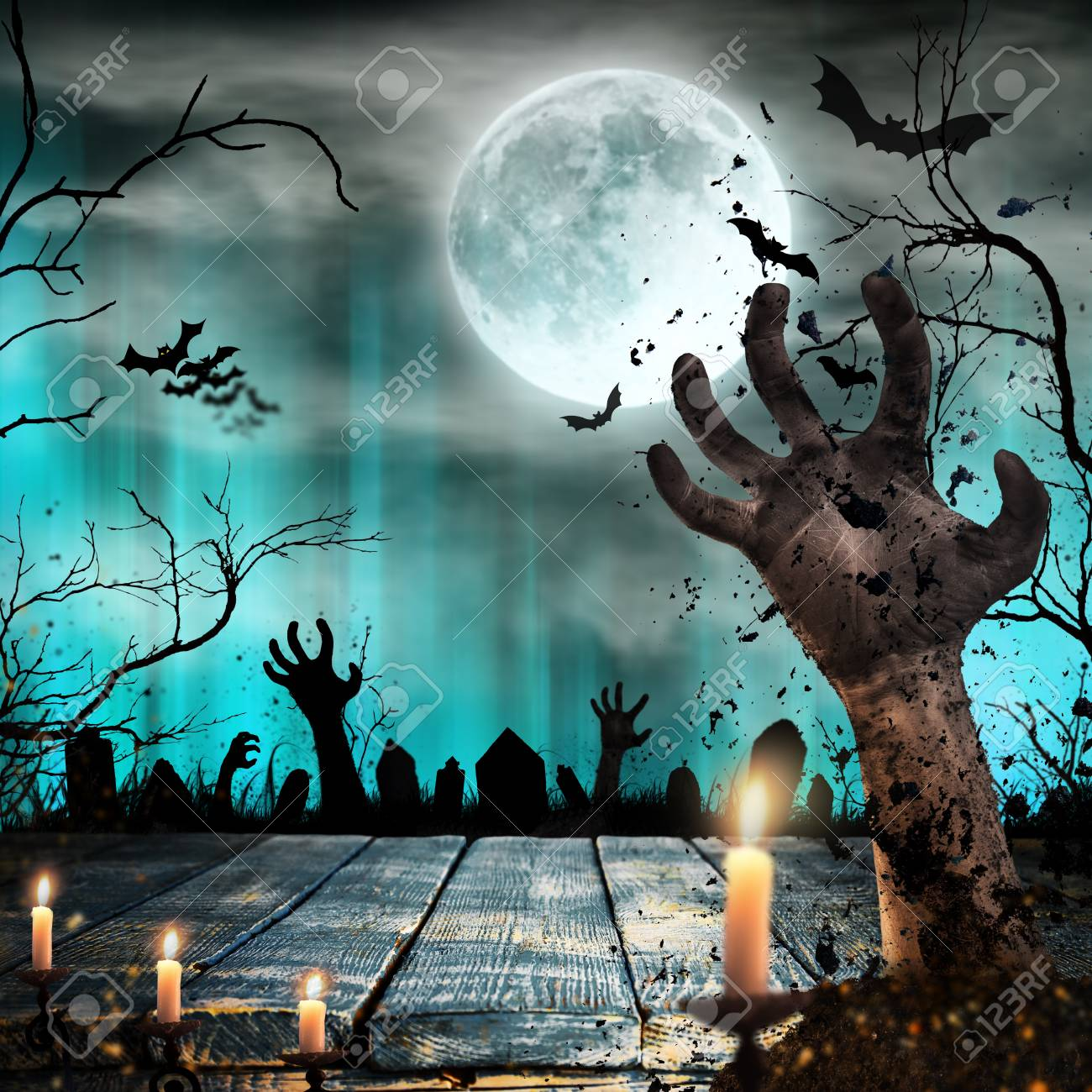 1300x1300 - Scary Halloween Background 17