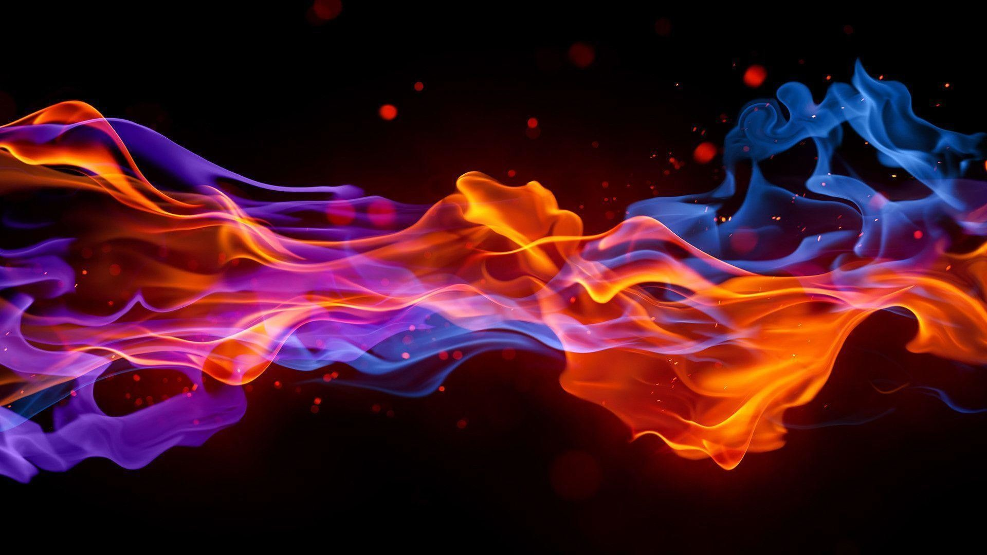1920x1080 - Red and Blue Fire 4
