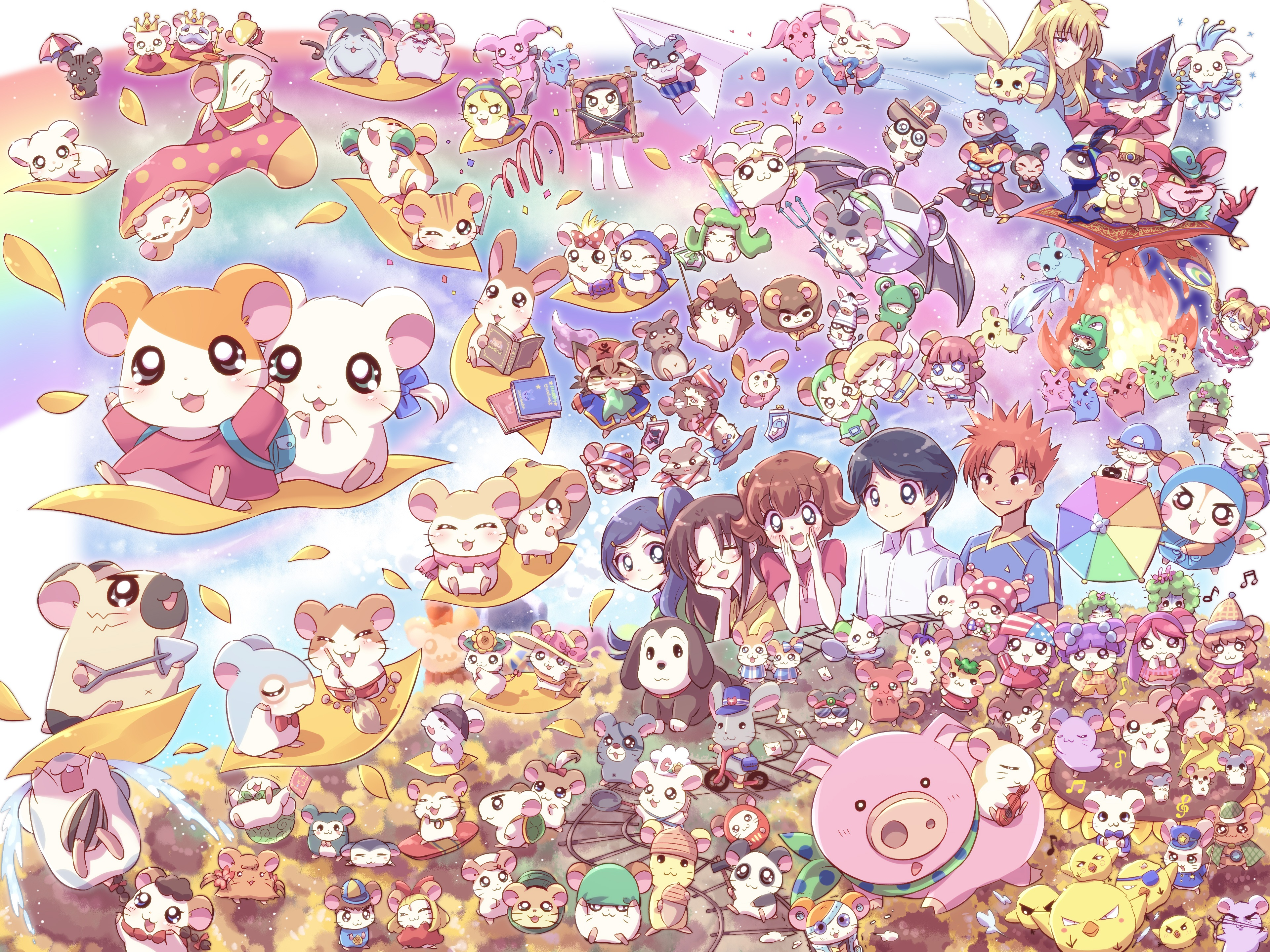 3840x2880 - Hamtaro Background 5