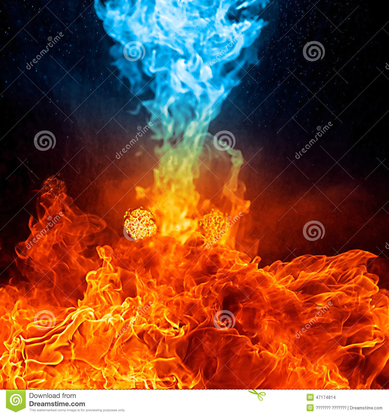 1300x1390 - Red and Blue Fire 35