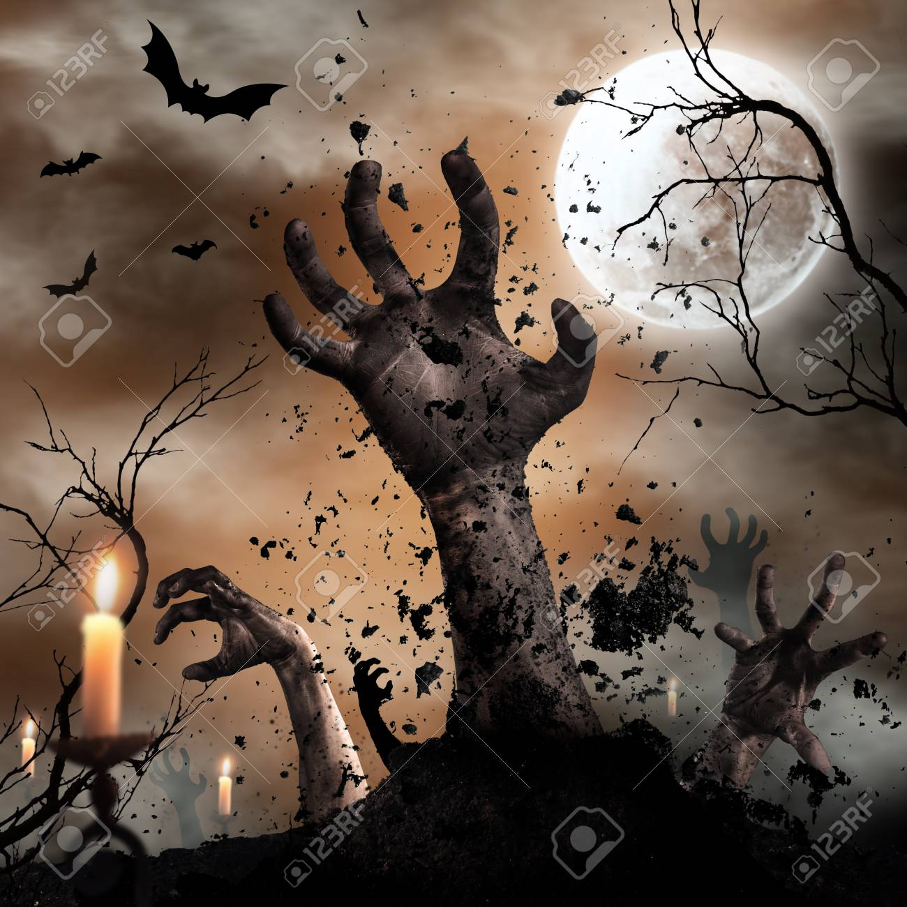 1300x1300 - Scary Halloween Background 5