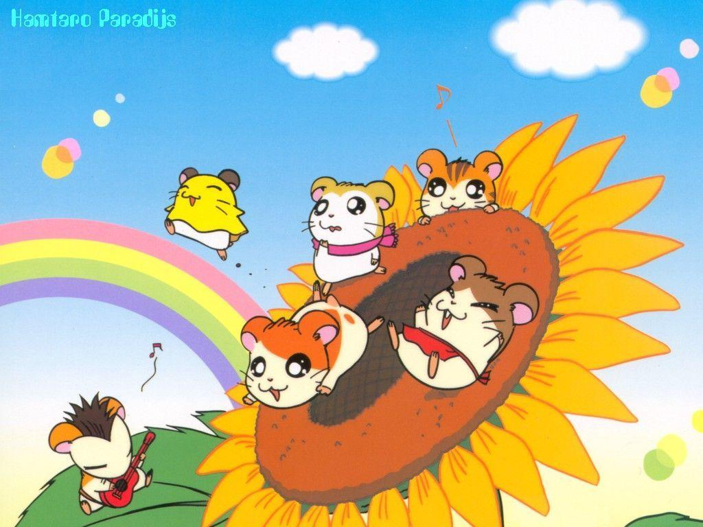 1024x768 - Hamtaro Background 20