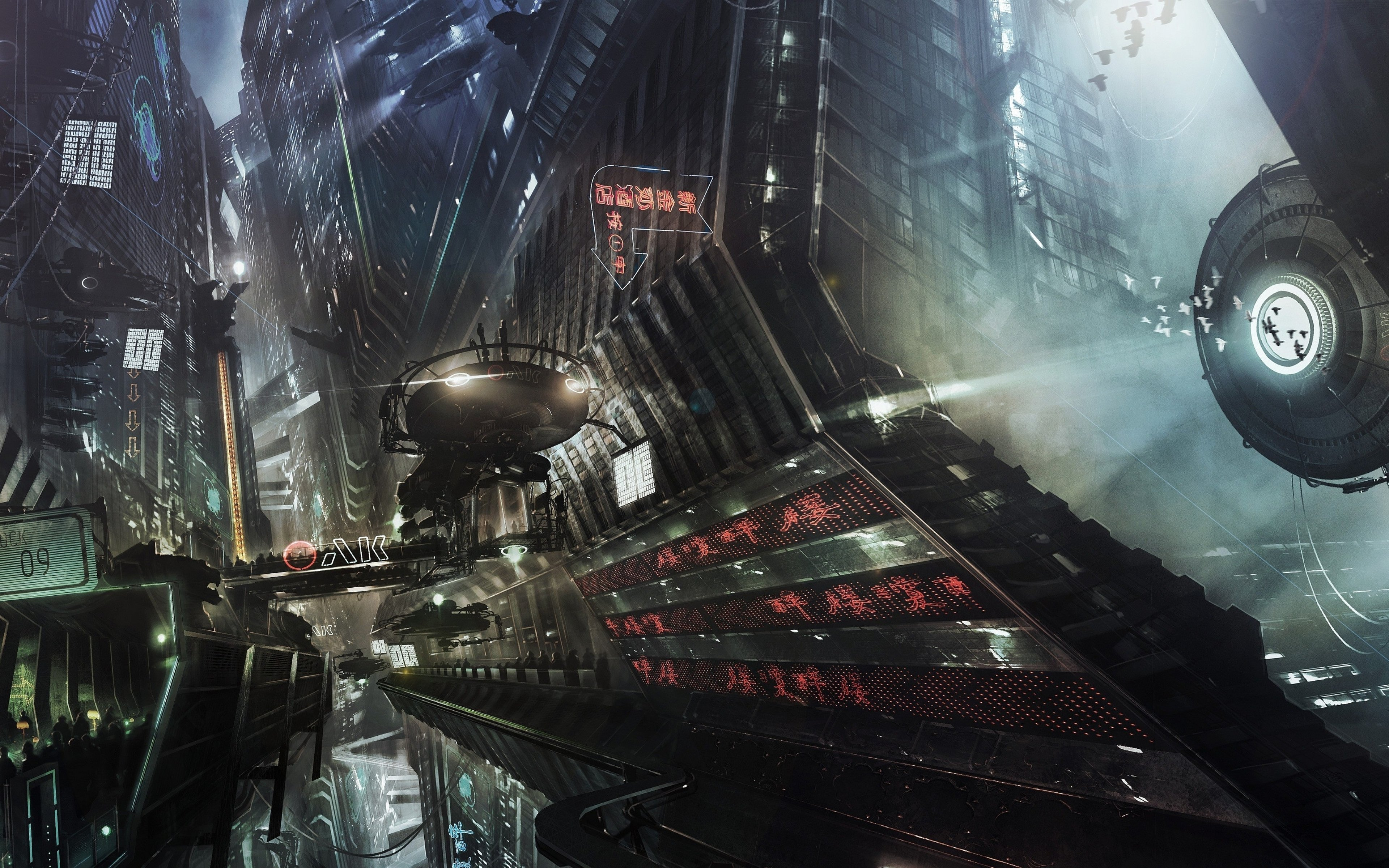 3840x2400 - Sci Fi City Wallpapers 31