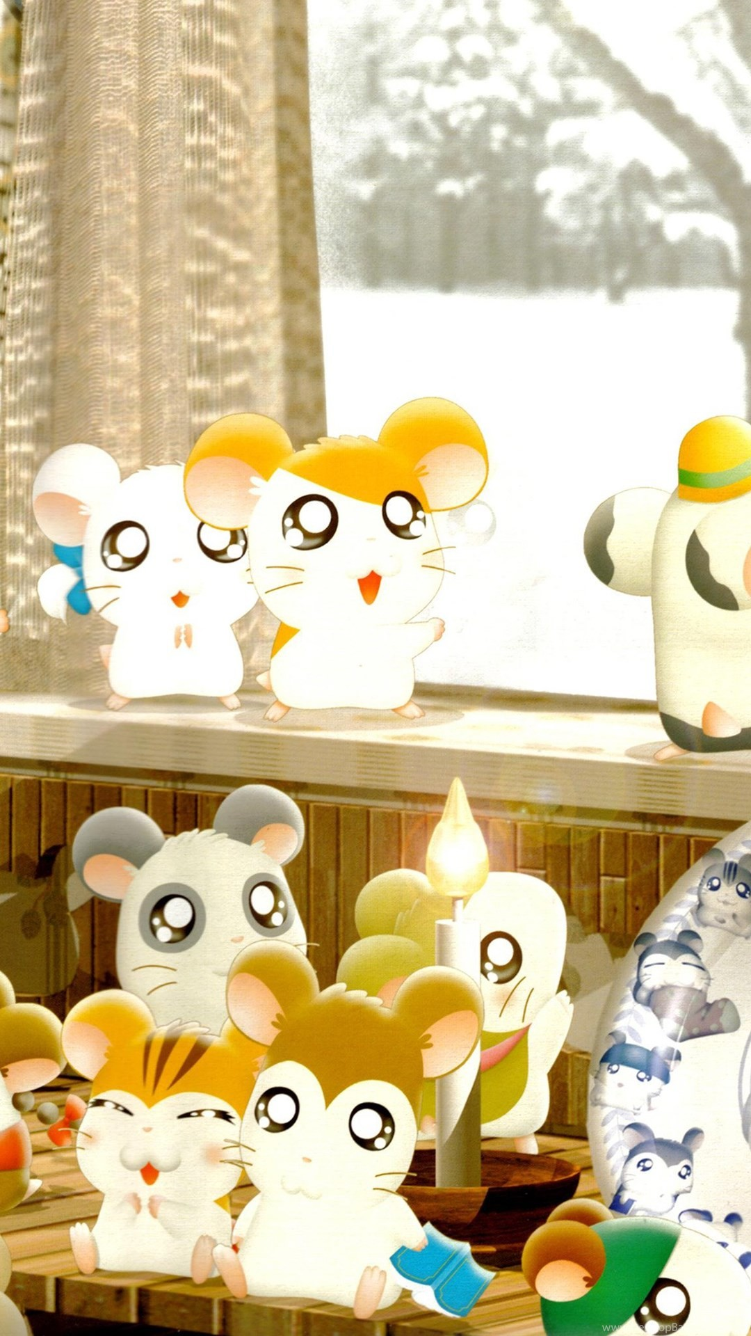 1080x1920 - Hamtaro Background 17