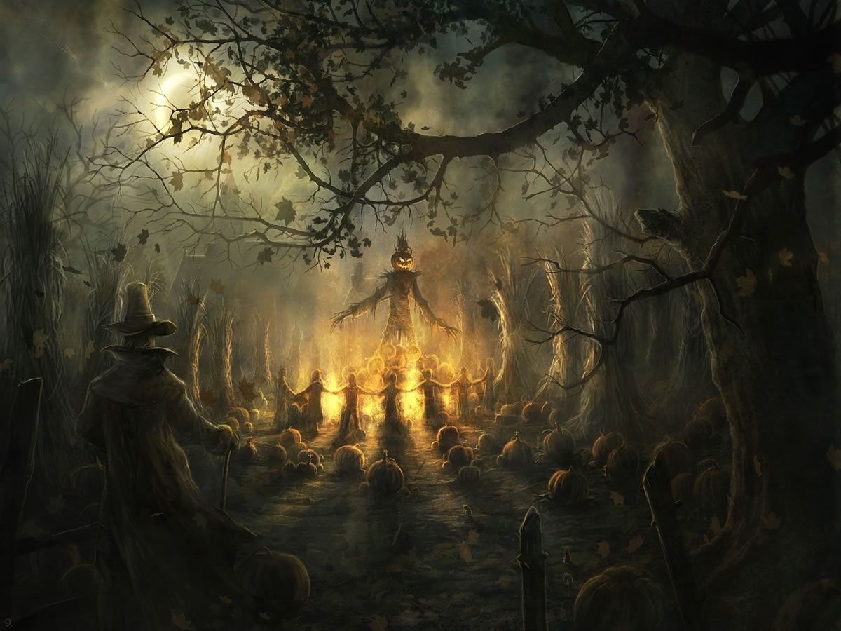 1200x900 - Scary Halloween Background 6