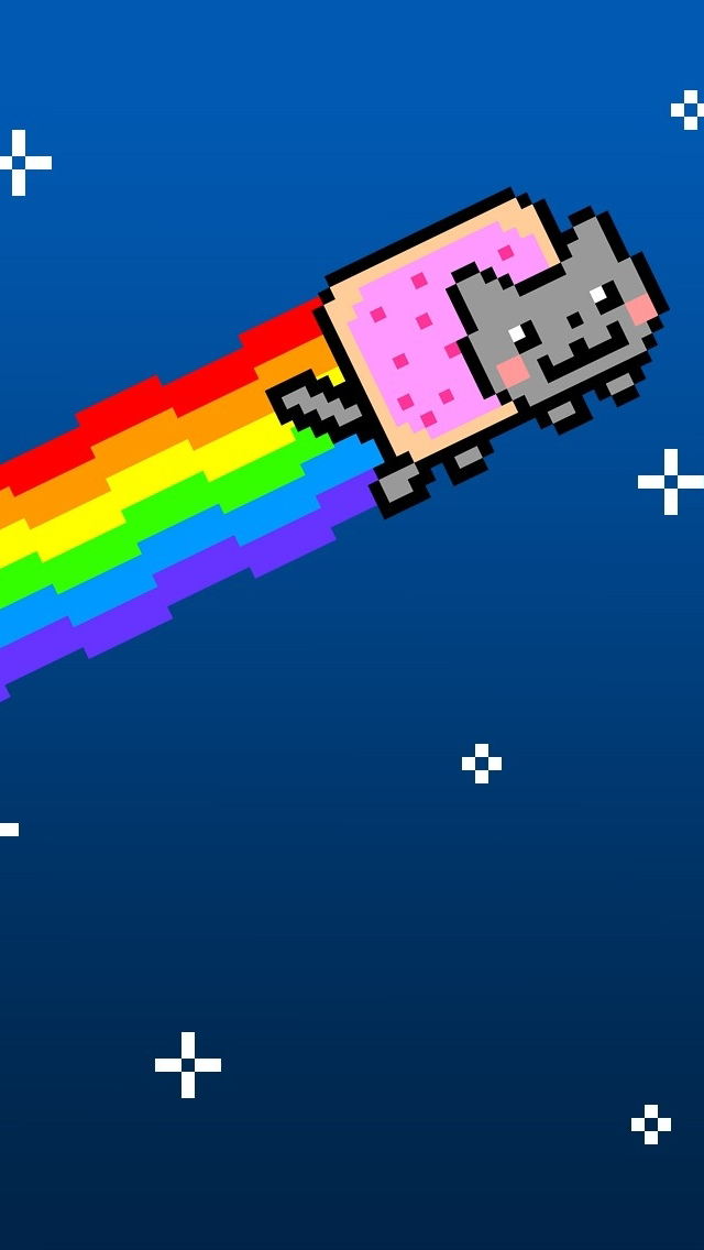 640x1136 - Nyan Cat iPhone 4