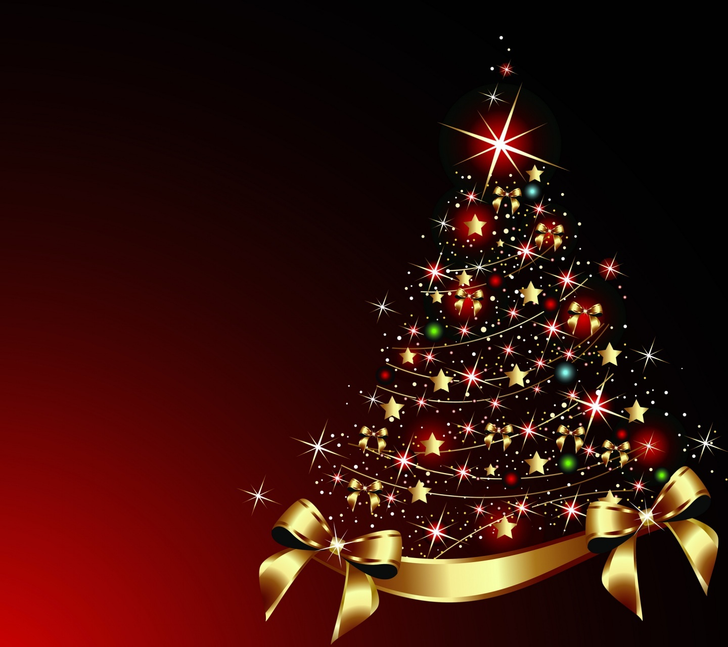 1440x1280 - Christmas Trees Backgrounds 23