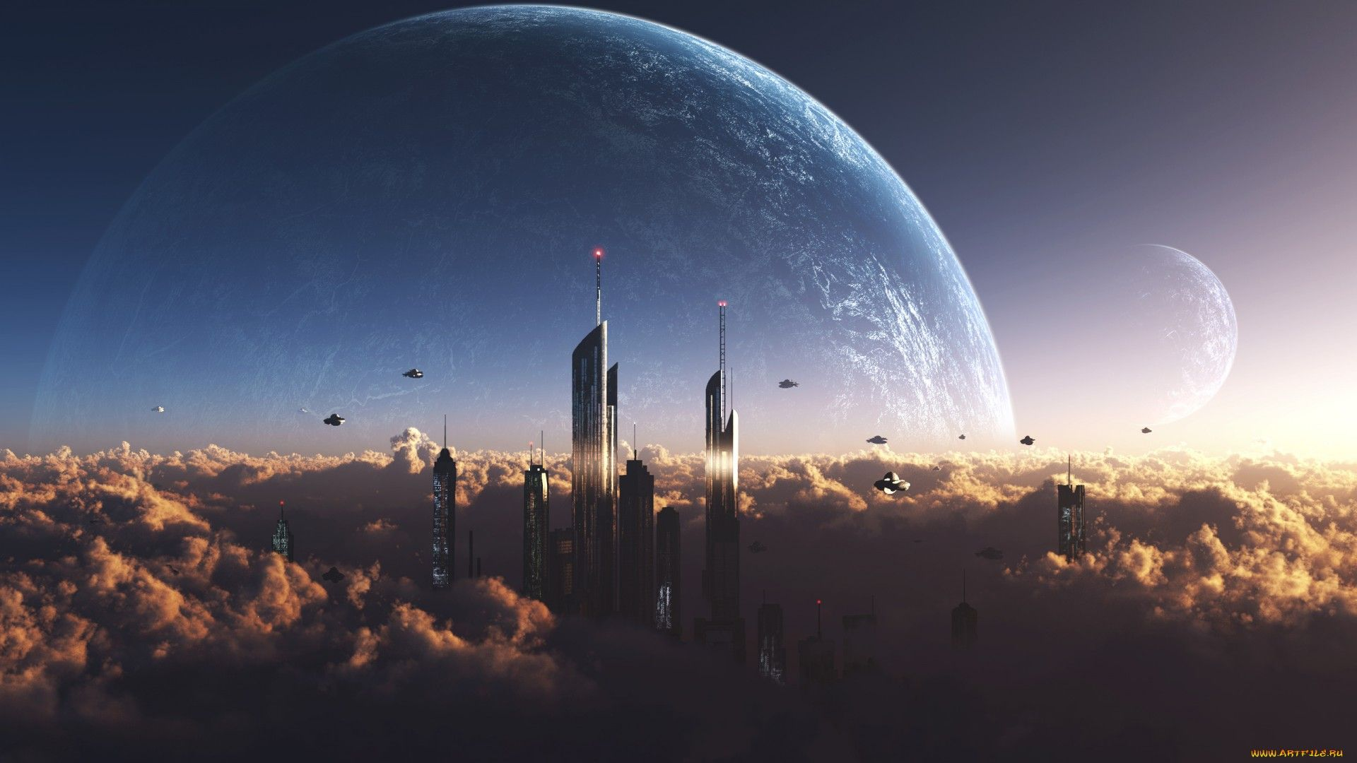 1920x1080 - Sci Fi City Wallpapers 13