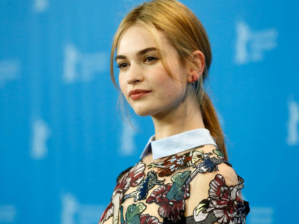 1024x768 - Lily James Wallpapers 21