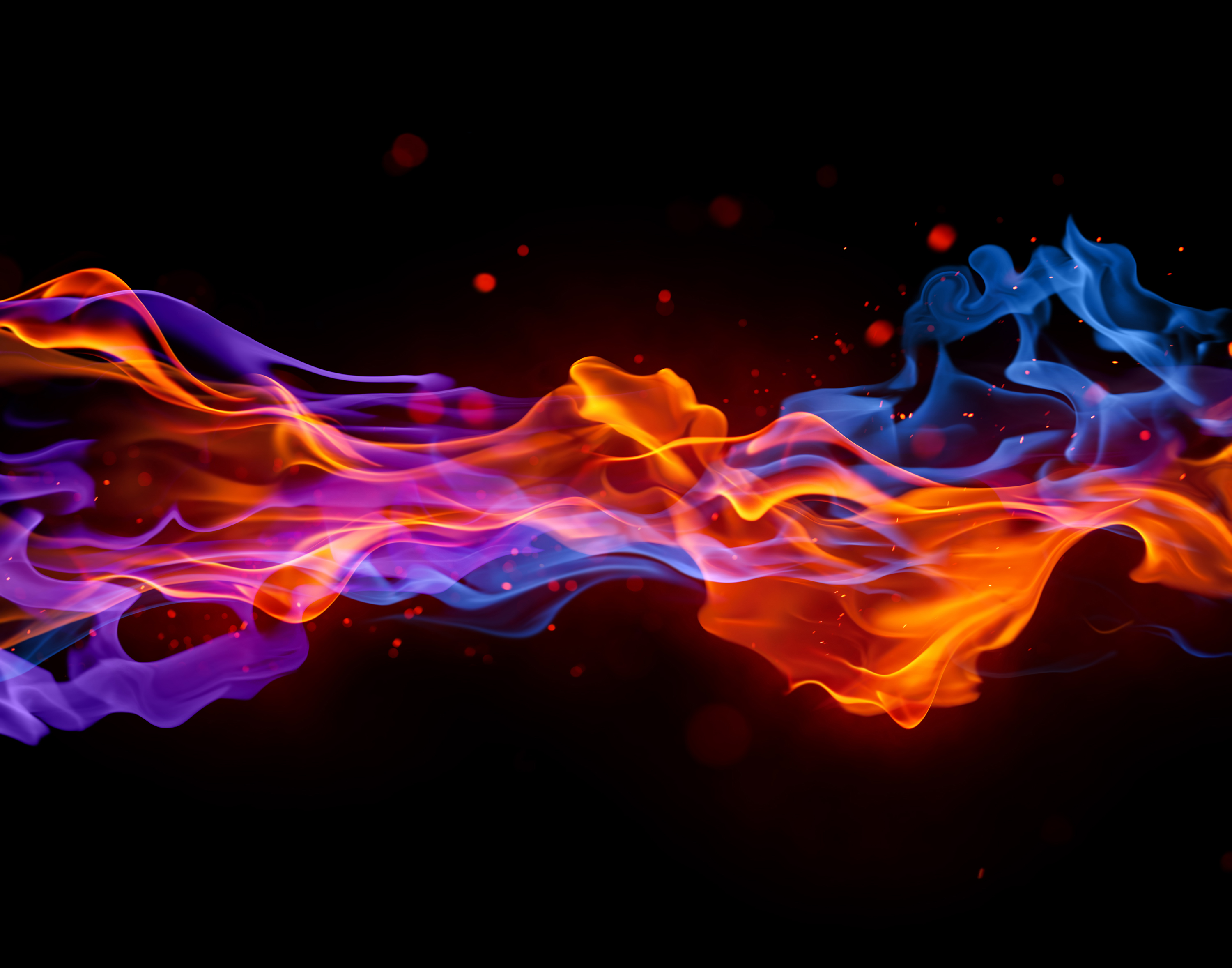 3000x2356 - Red and Blue Fire 41